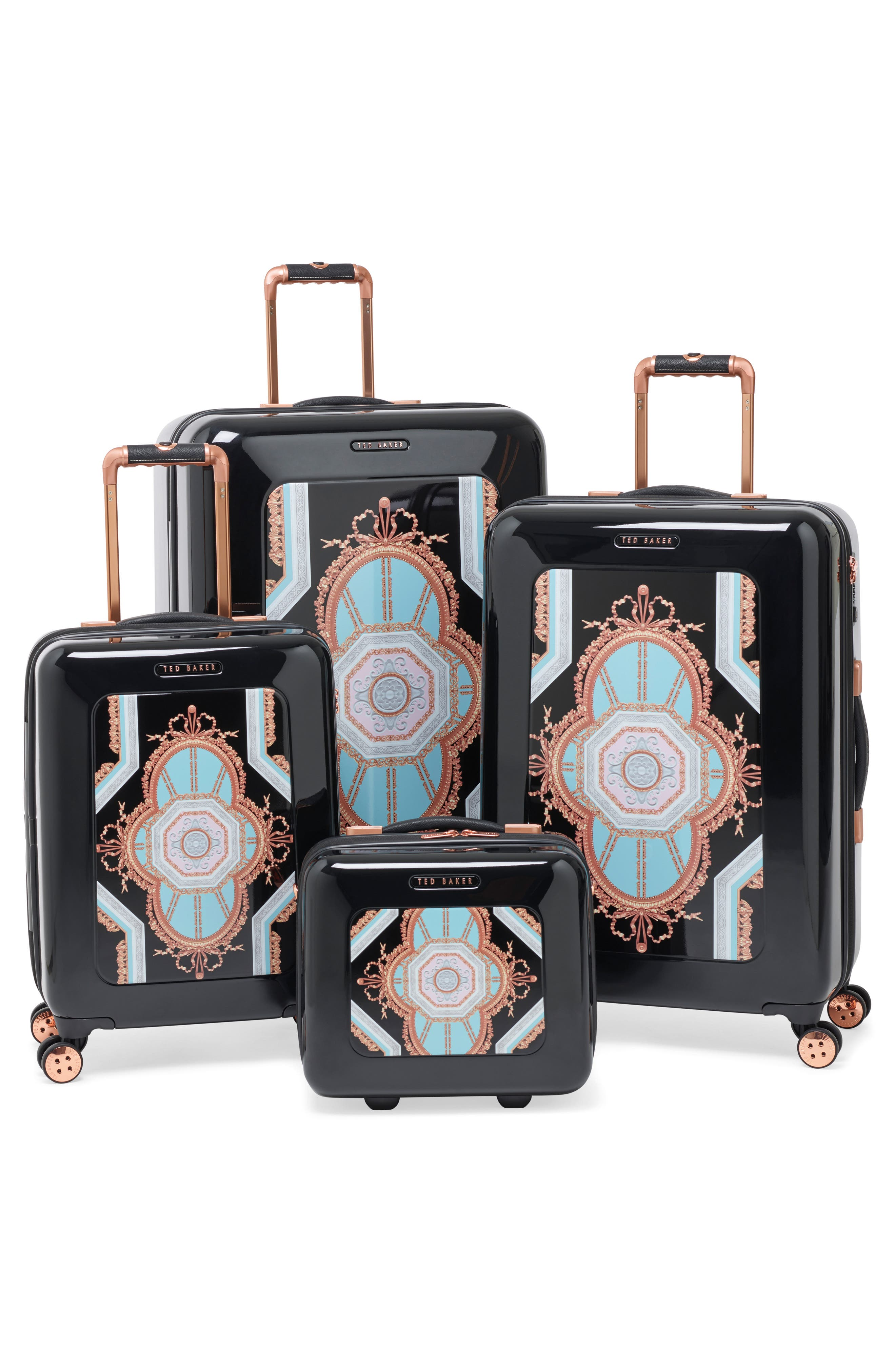 Large Versailles 32-Inch Hard Shell Spinner Suitcase,                             Alternate thumbnail 7, color,                             001