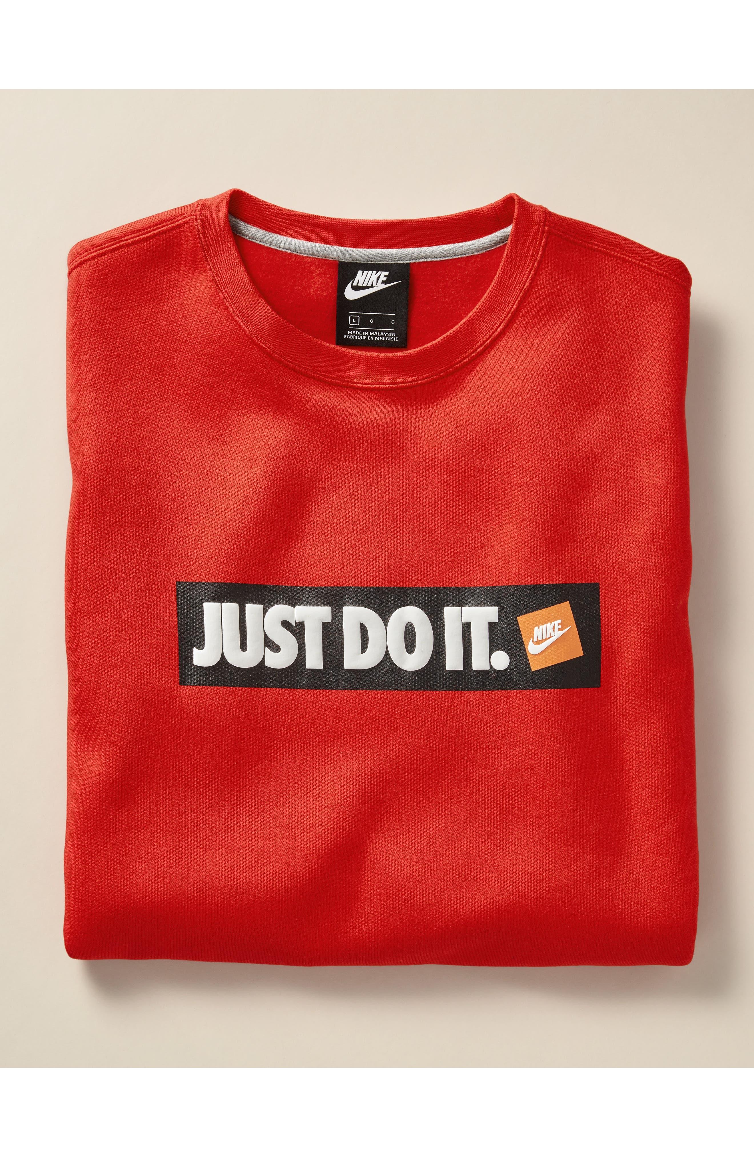 Just Do It Logo Sweatshirt,                             Alternate thumbnail 7, color,                             010