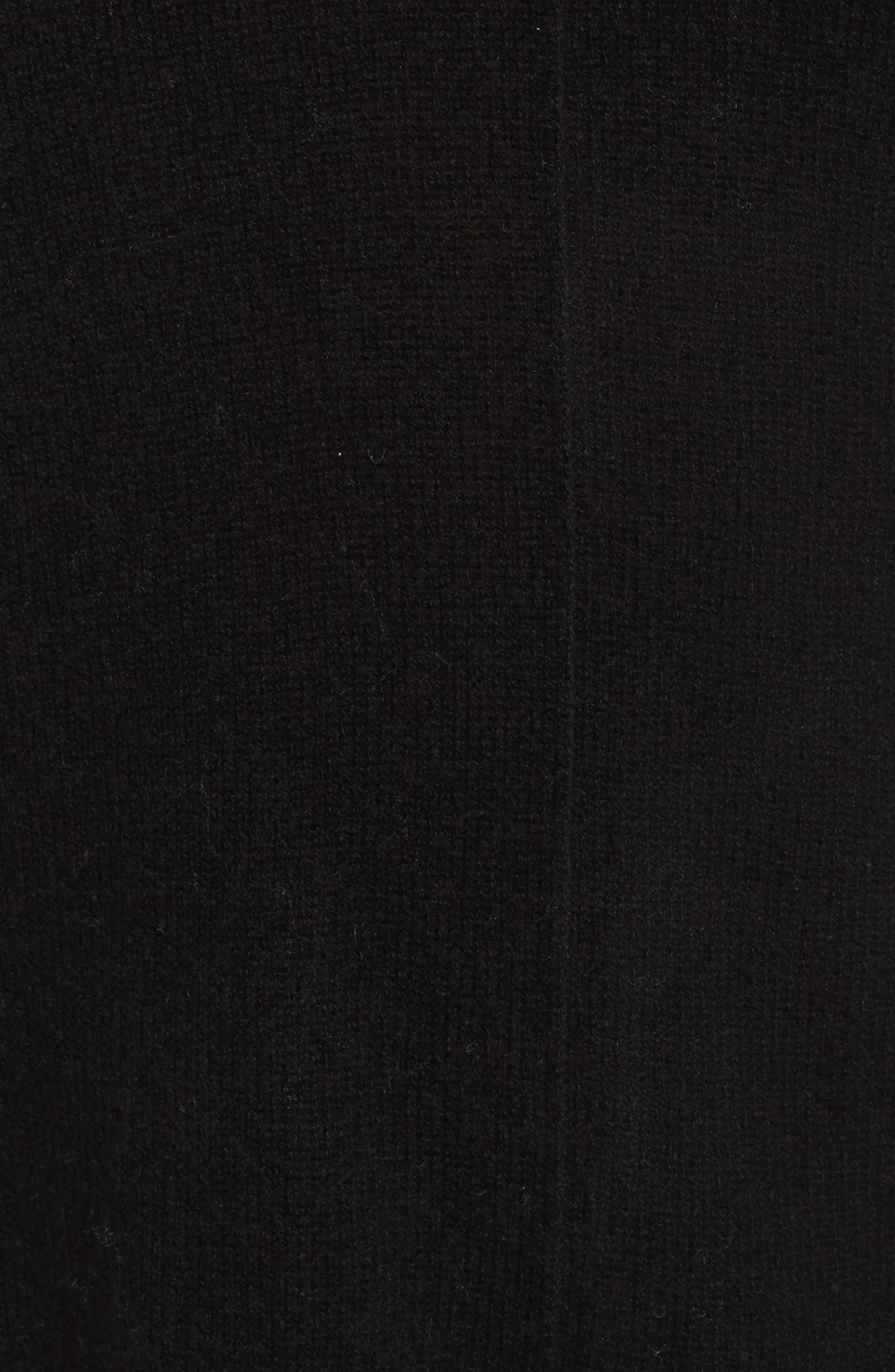 Easy V-Neck Wool & Cashmere Pullover,                             Alternate thumbnail 5, color,                             001
