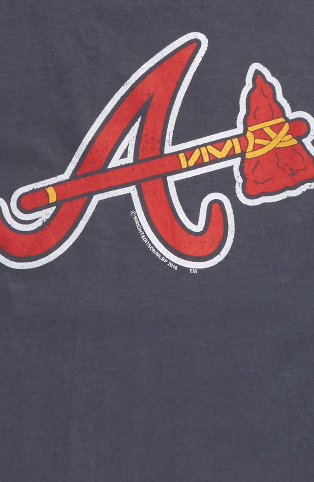 'Atlanta Braves' T-Shirt,                             Alternate thumbnail 2, color,                             410