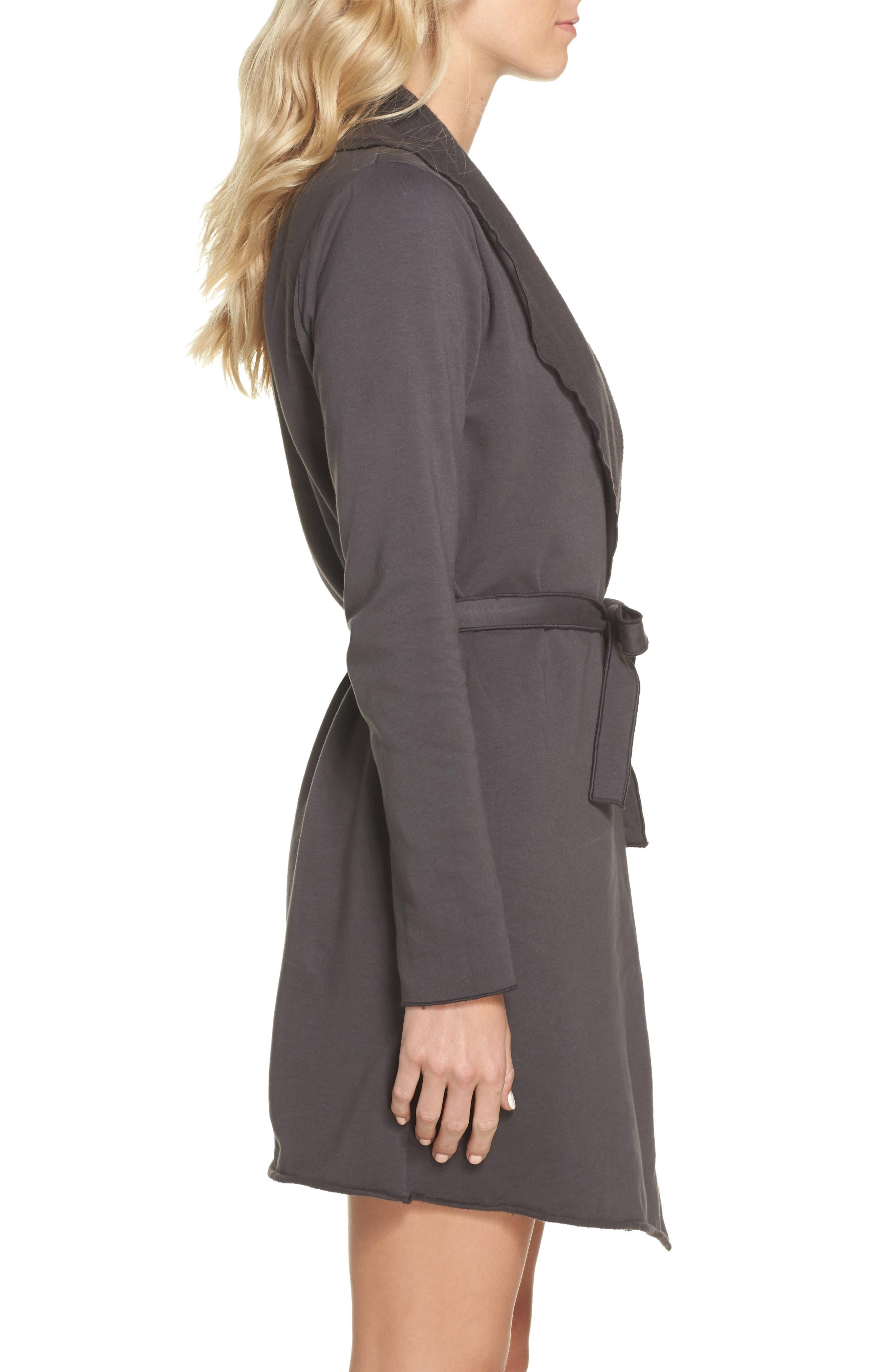 Willa Fleece Short Robe,                             Alternate thumbnail 6, color,