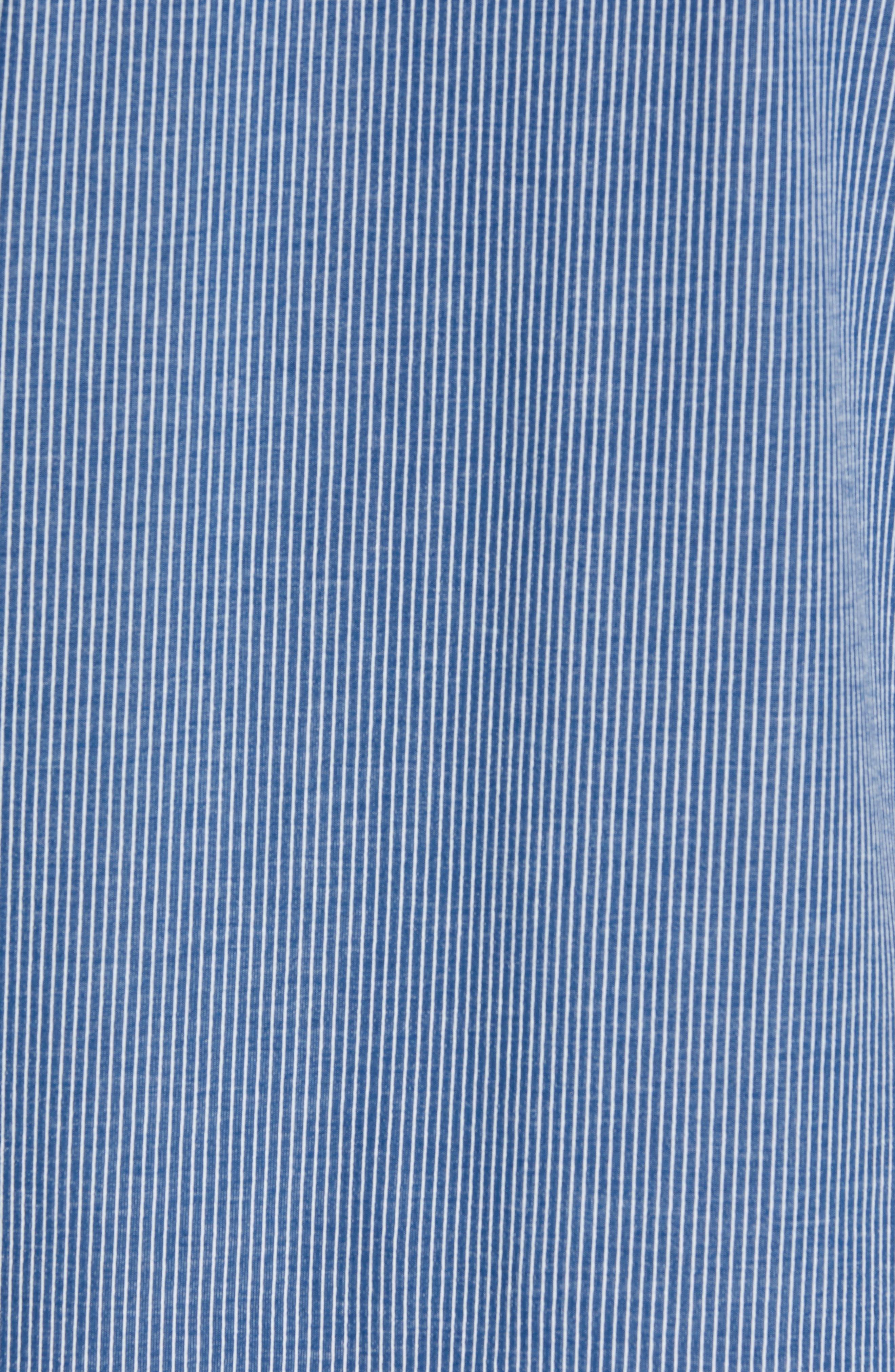 Pinstripe Sleep T-Shirt,                             Alternate thumbnail 5, color,                             BLUE