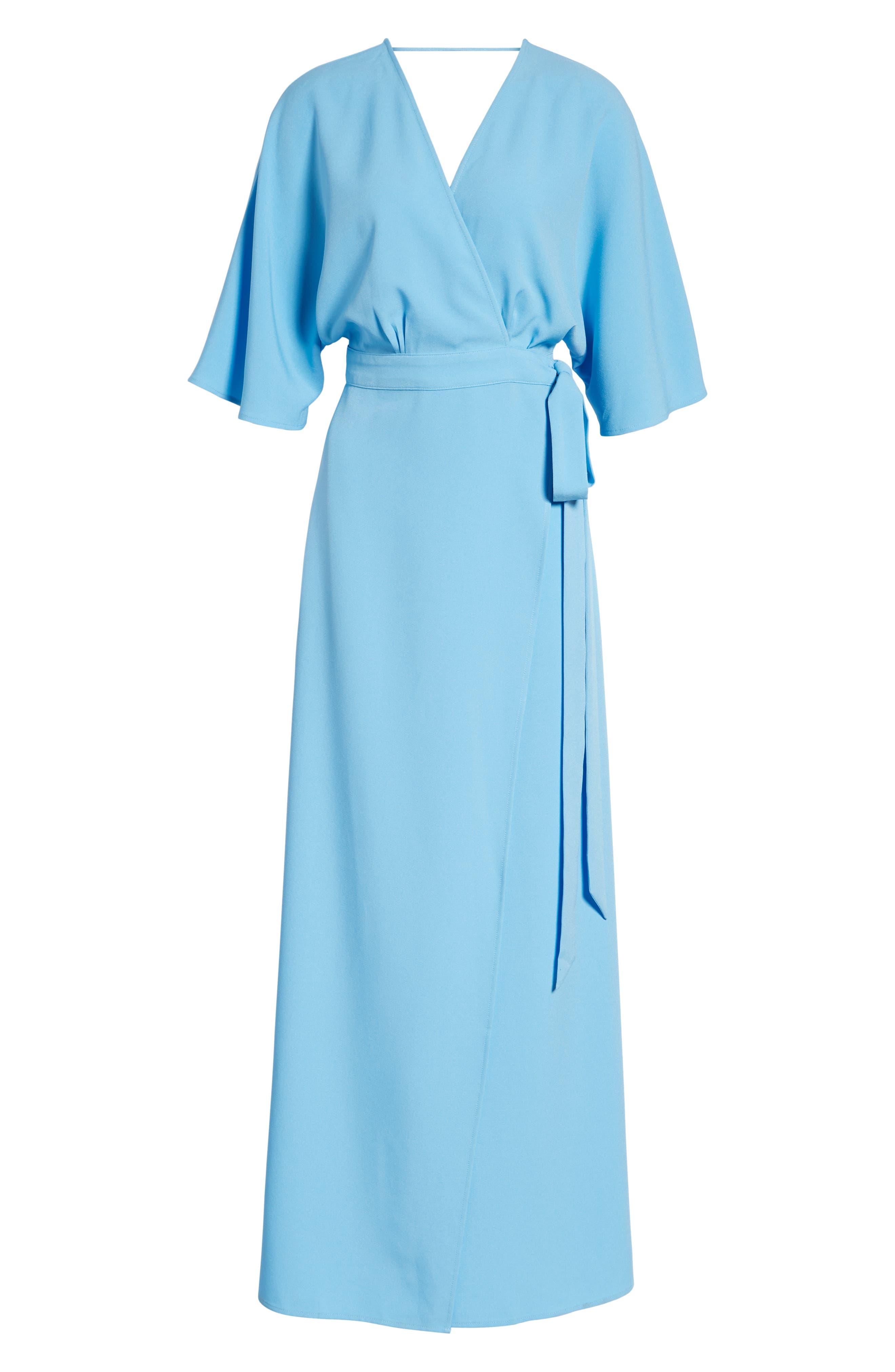 Kimono Maxi Dress,                             Alternate thumbnail 7, color,                             BLUE ALASKAN