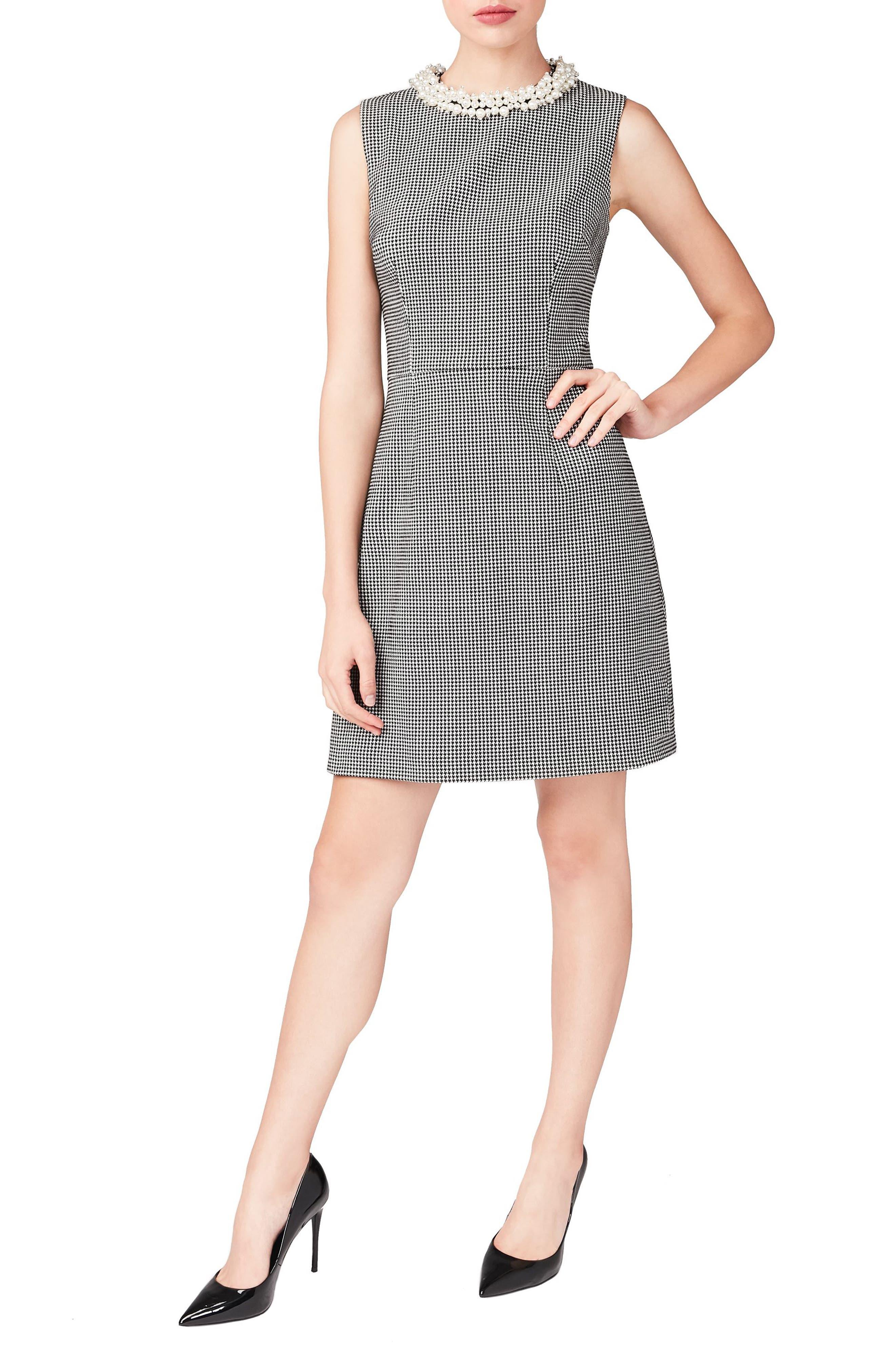 Embellished Collar Sheath Dress,                             Main thumbnail 1, color,                             002