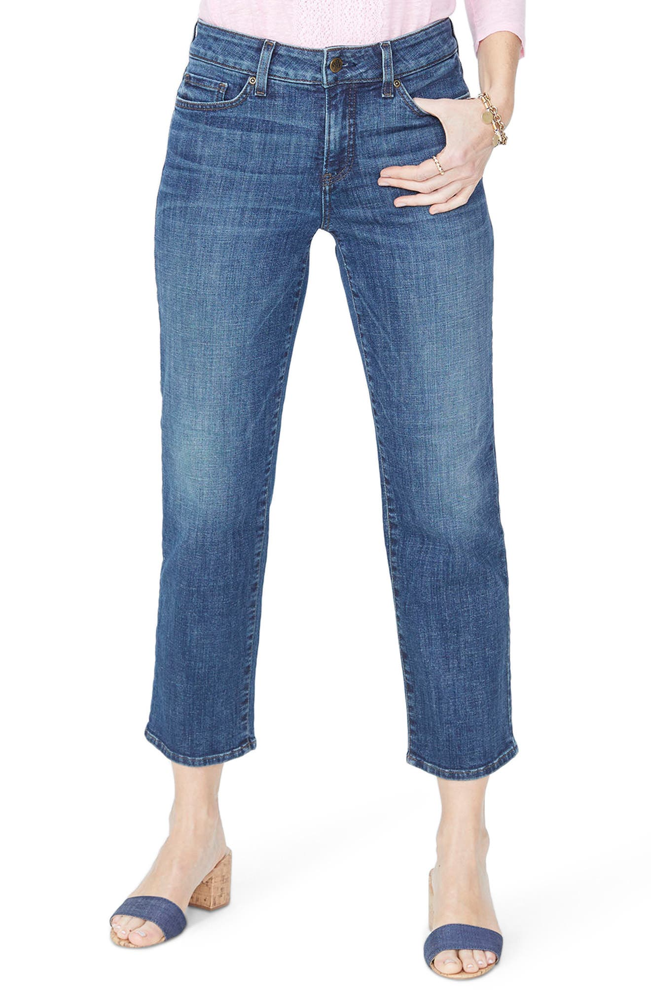 Jenna Straight Leg Ankle Jeans,                             Main thumbnail 1, color,                             420
