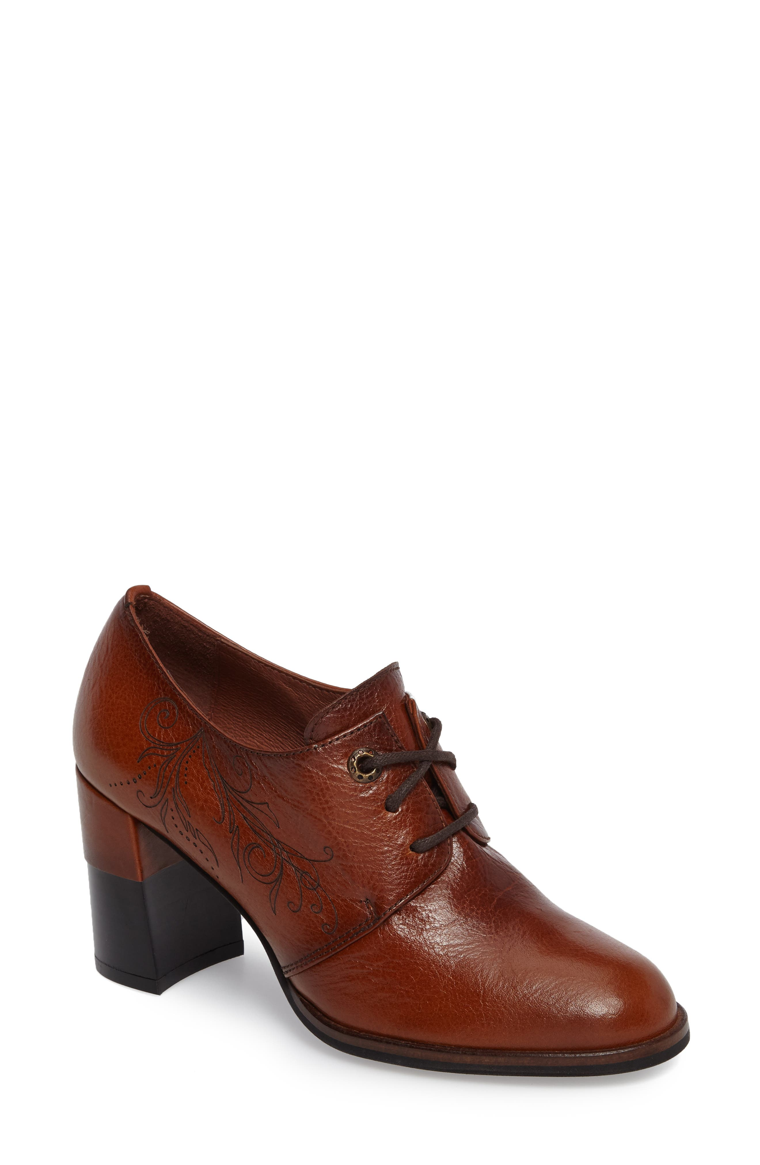 Hayes Lace-Up Pump,                             Main thumbnail 1, color,                             CUOIO LEATHER