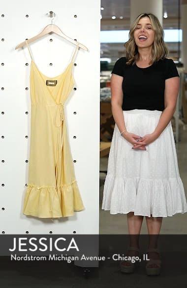 Fig Linen Wrap Dress, sales video thumbnail