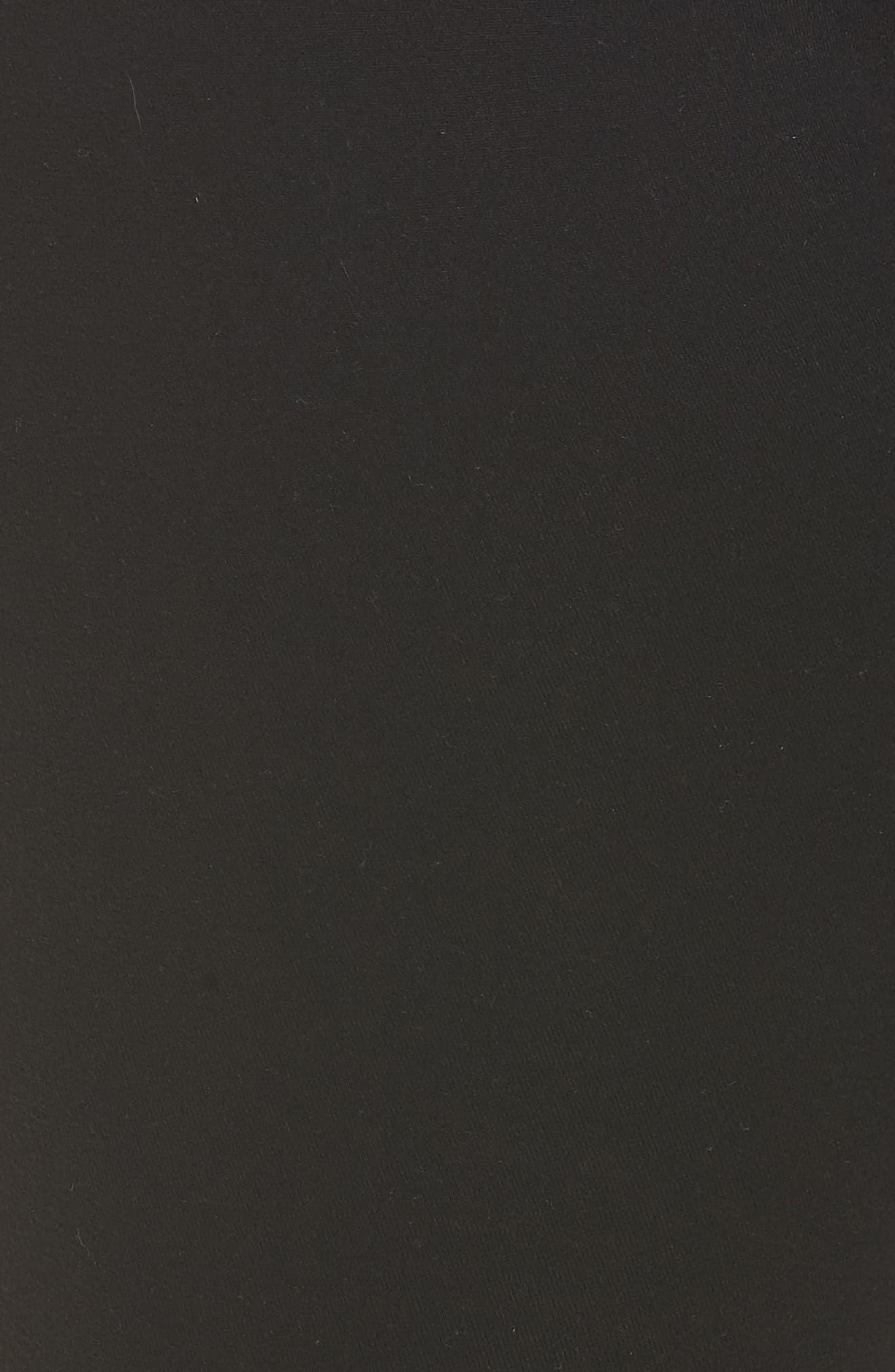 High Waist Capri Leggings,                             Alternate thumbnail 5, color,                             JET BLACK