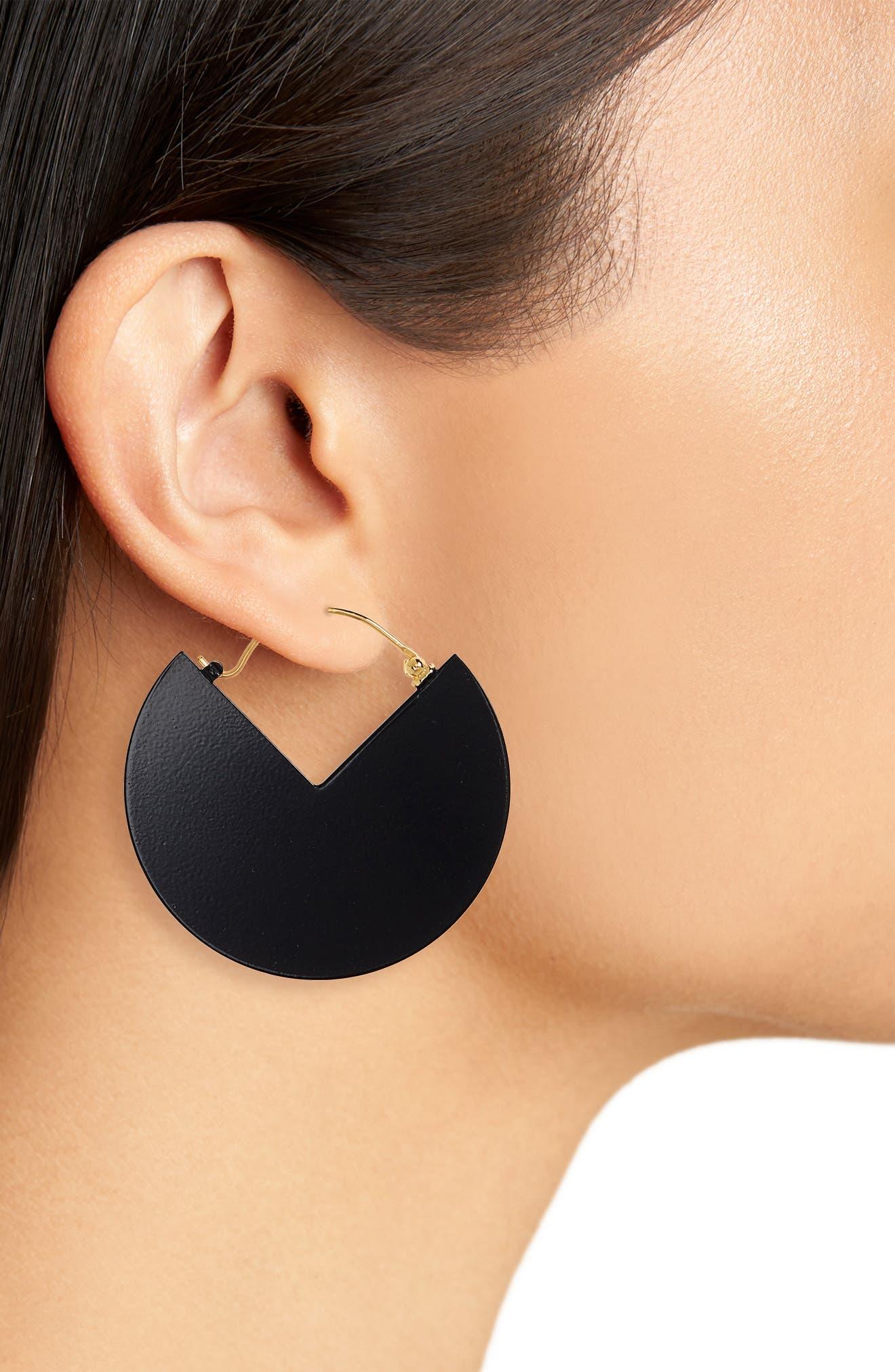 90-Degree Earrings,                             Alternate thumbnail 2, color,                             001