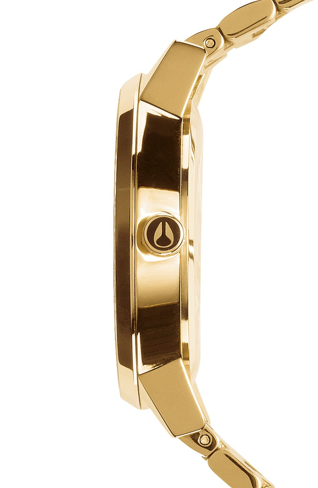 'The Kensington' Round Bracelet Watch, 37mm,                             Alternate thumbnail 3, color,                             GOLD/ BLACK