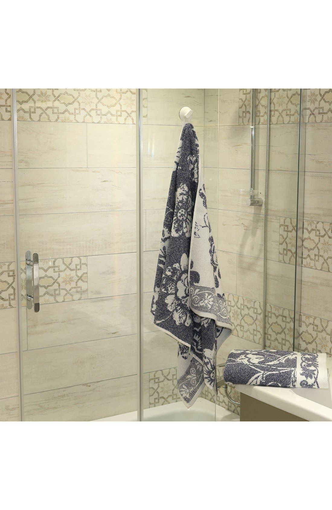 Linum 'Penelope' Turkish Cotton Bath Towels,                             Alternate thumbnail 2, color,                             OCEAN BLUE