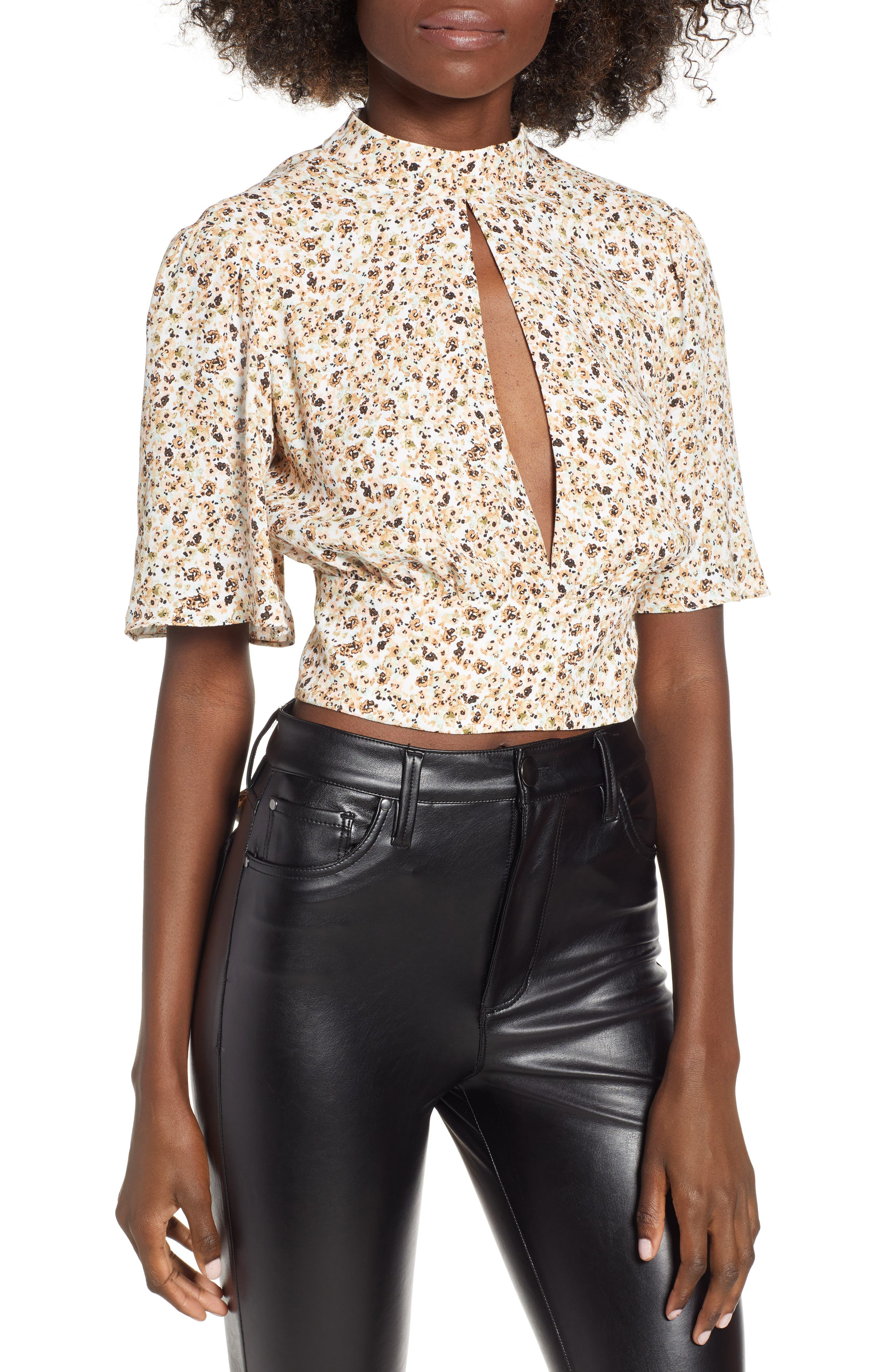 Bauer Top,                         Main,                         color, BEIGE DITSY