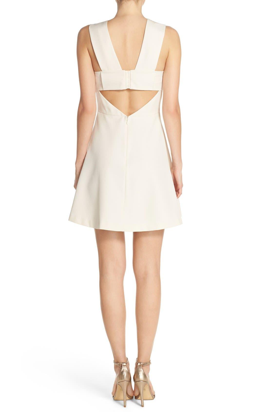 Bianca Back Cutout Fit & Flare Dress,                             Alternate thumbnail 28, color,