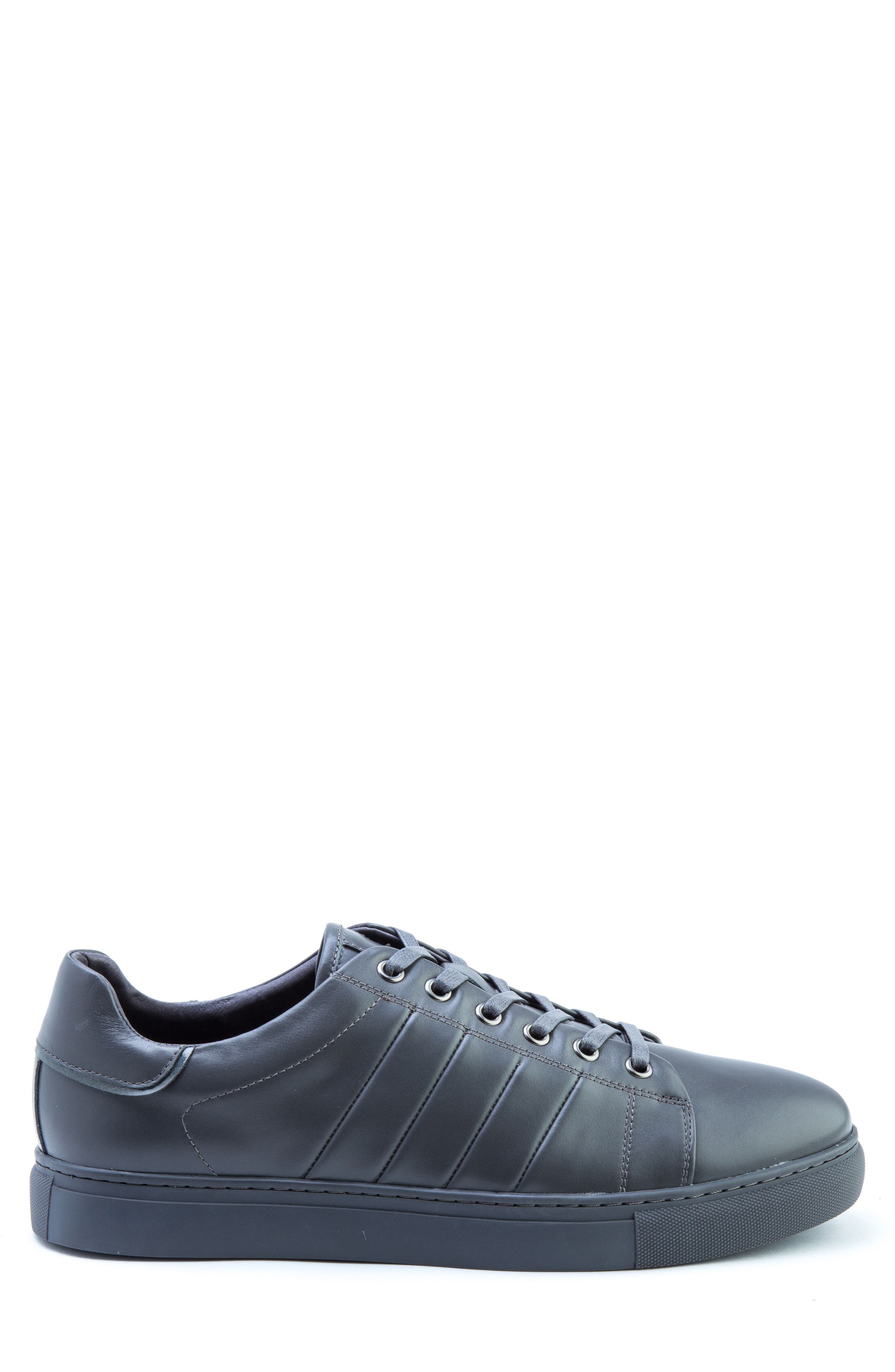 Mitchell Sneaker,                             Alternate thumbnail 3, color,                             GREY LEATHER