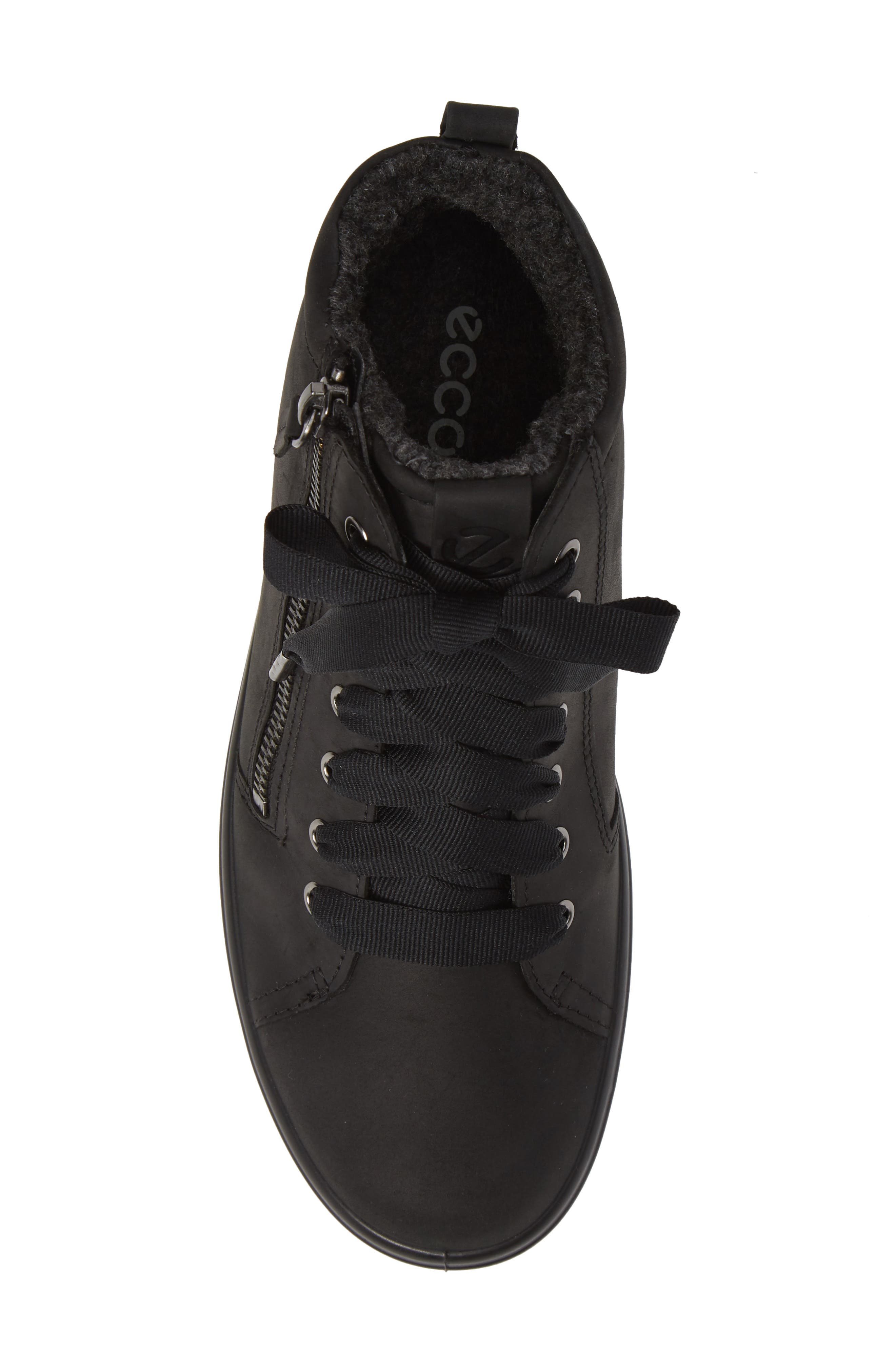 ECCO,                             Soft 7 Tred Gore-Tex<sup>®</sup> Waterproof Bootie,                             Alternate thumbnail 5, color,                             BLACK OIL NUBUCK LEATHER