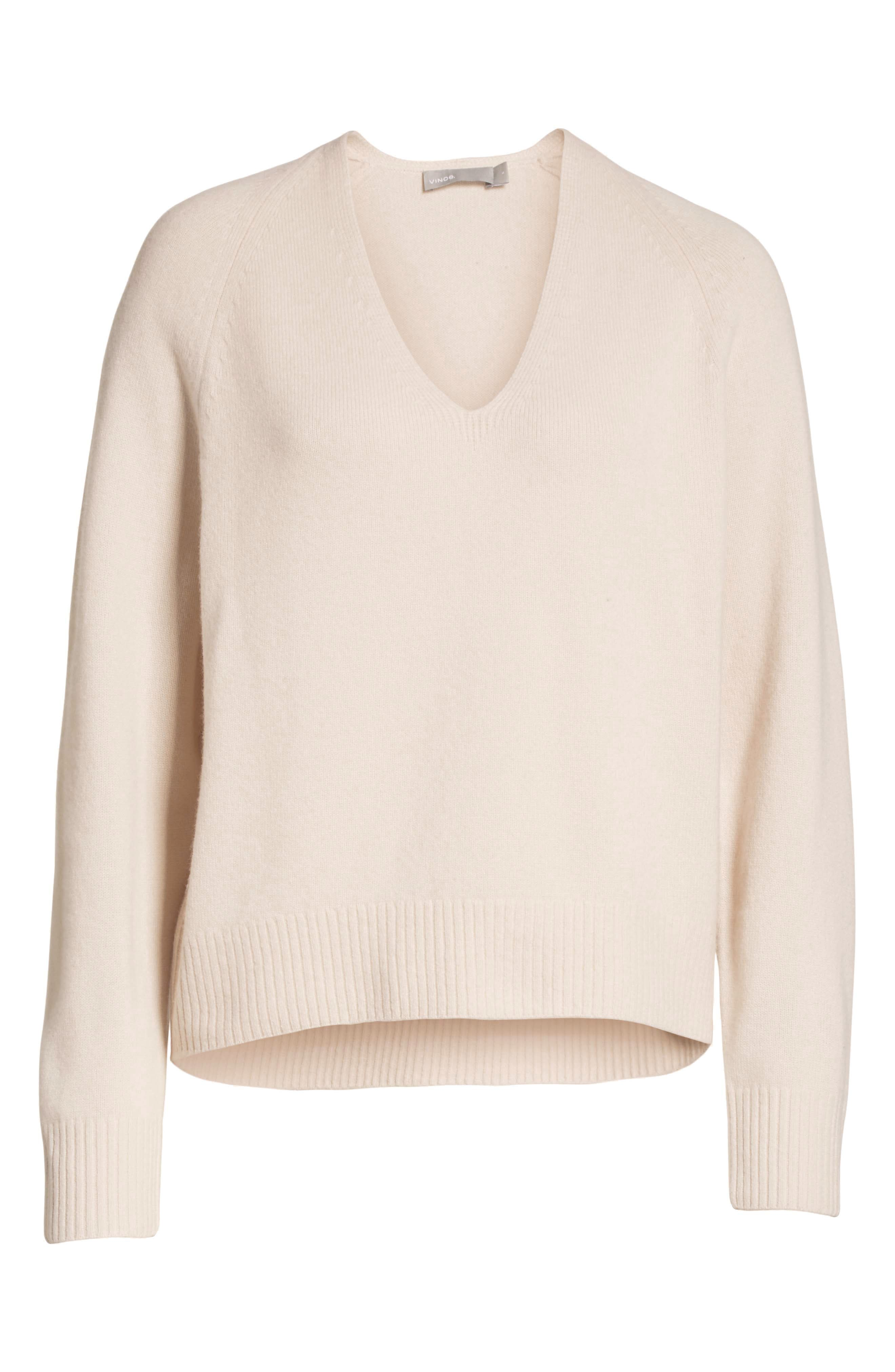Cashmere Raglan Sleeve Sweater,                             Alternate thumbnail 6, color,                             SANDSTONE