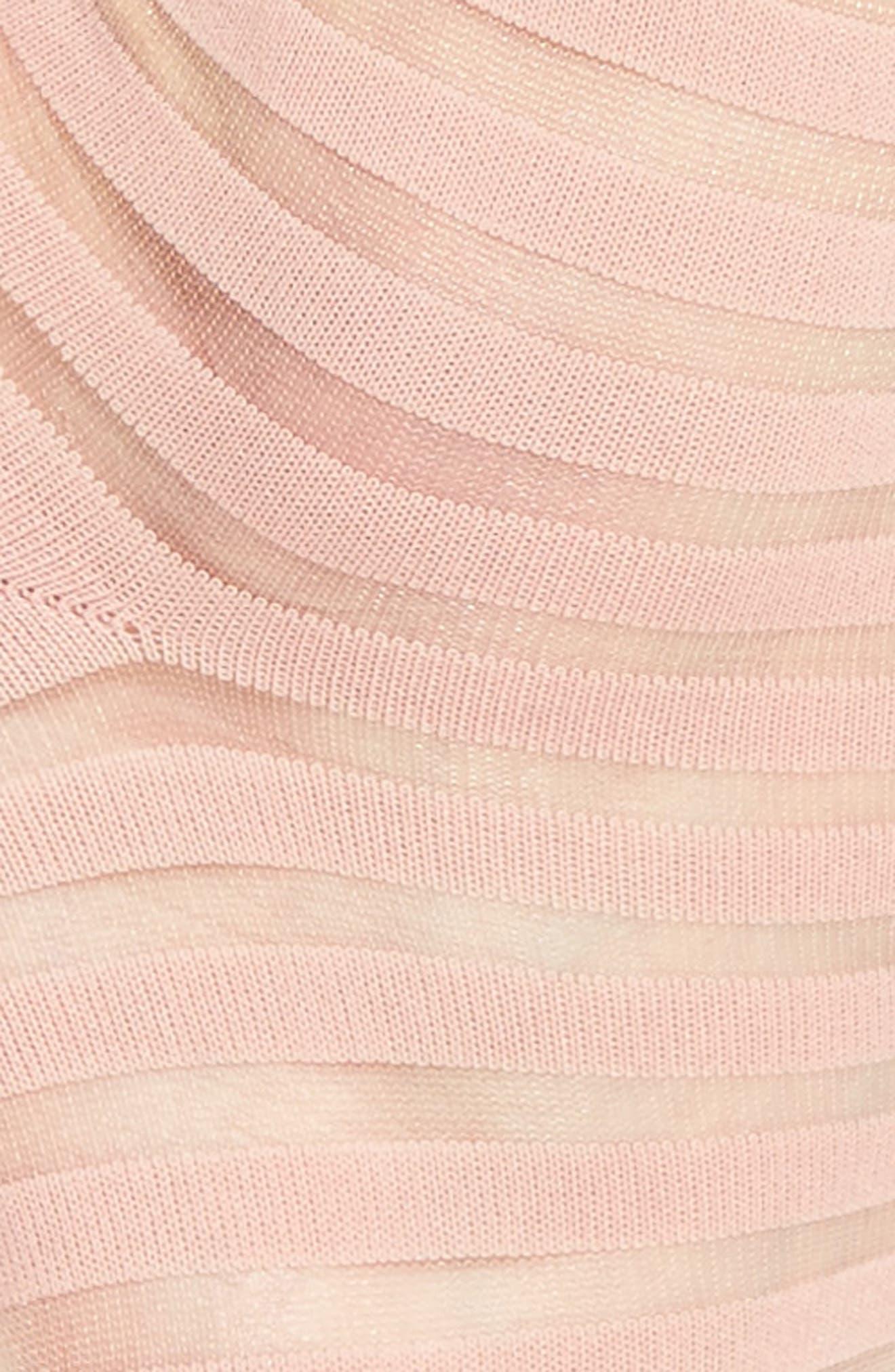 sheer stripe ankle socks,                             Alternate thumbnail 5, color,