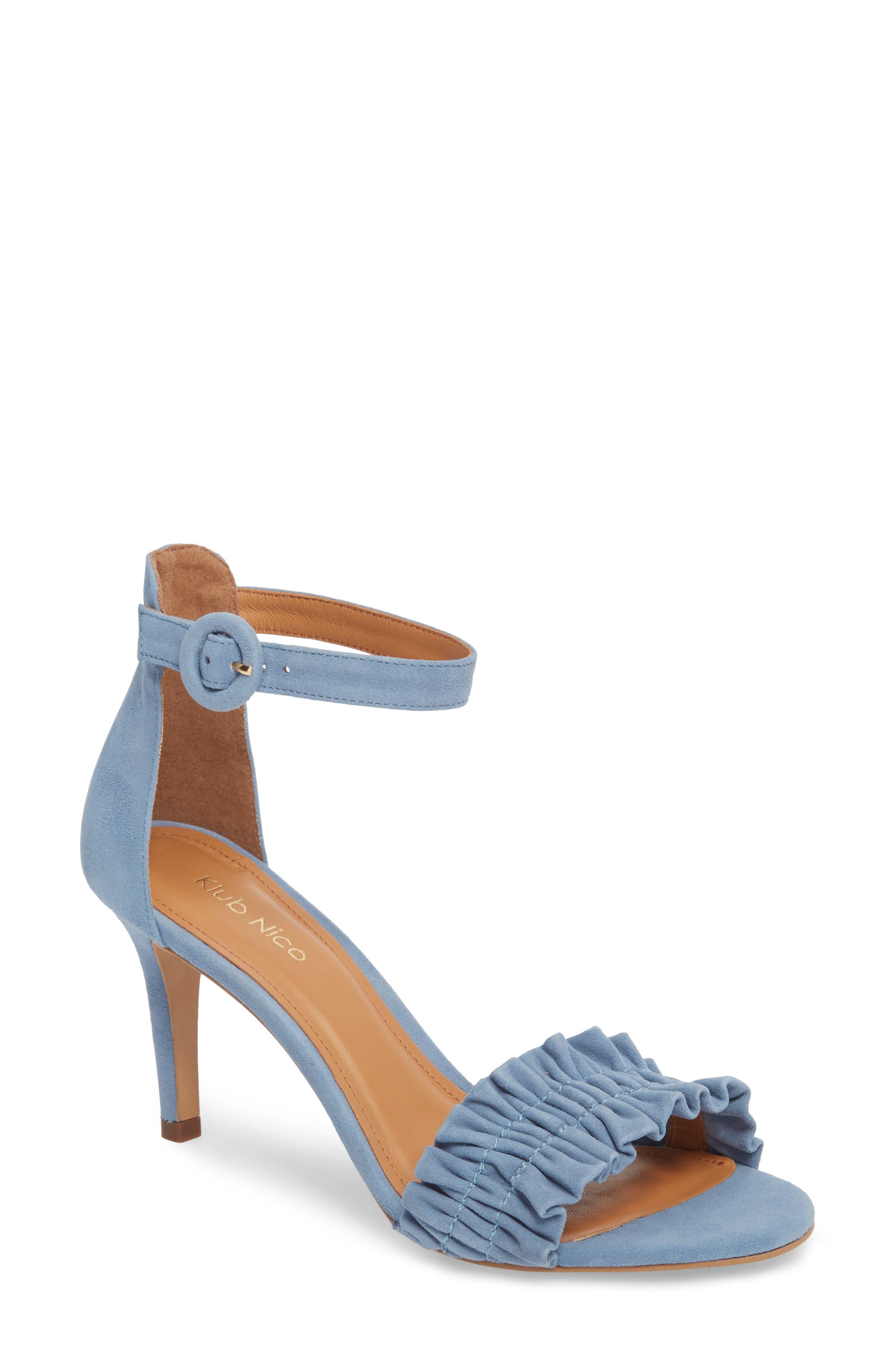 Arlow Sandal,                             Main thumbnail 1, color,                             BLUE LEATHER