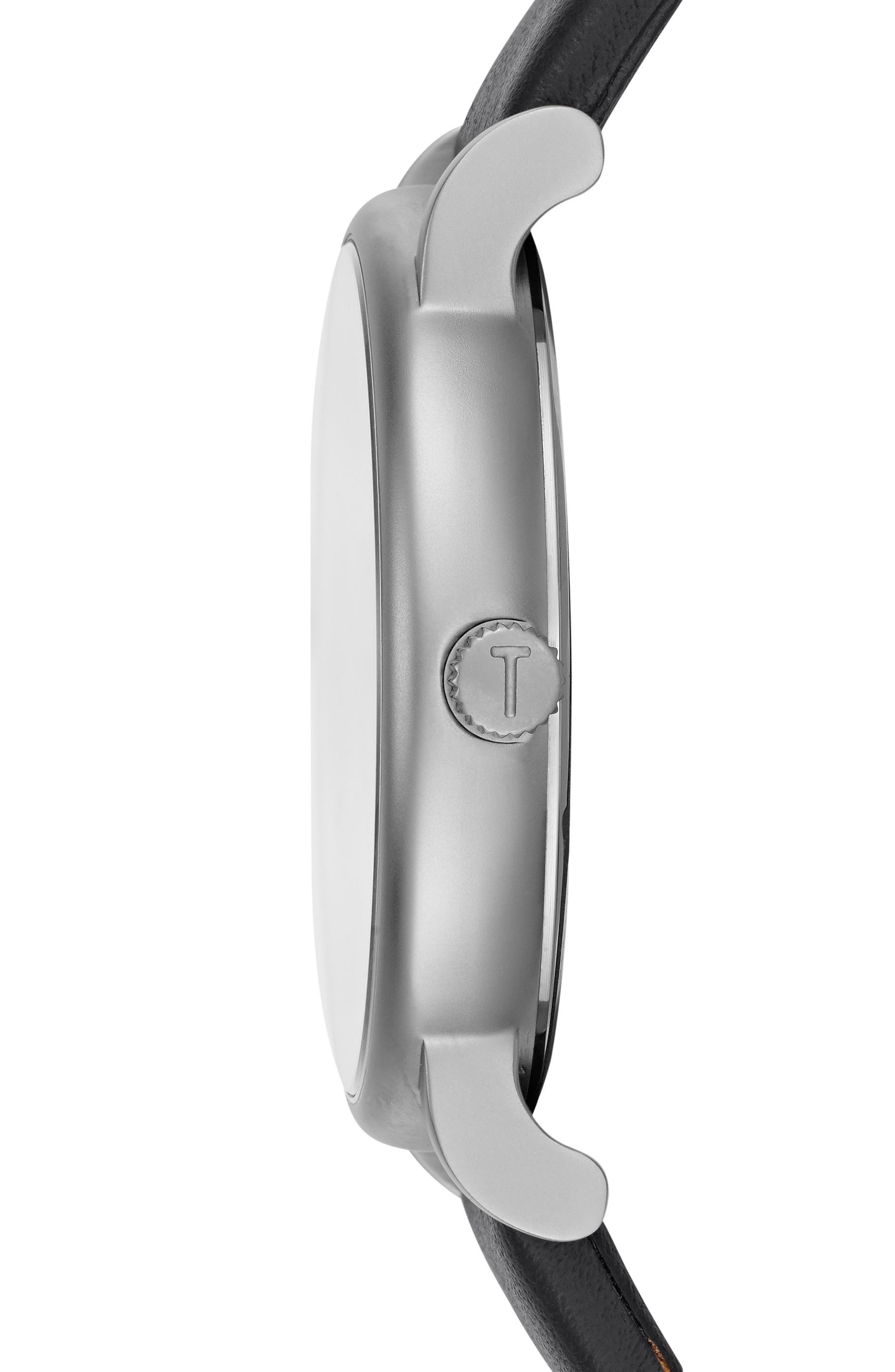 Nolan Subeye Leather Strap Watch, 42mm,                             Alternate thumbnail 3, color,                             021