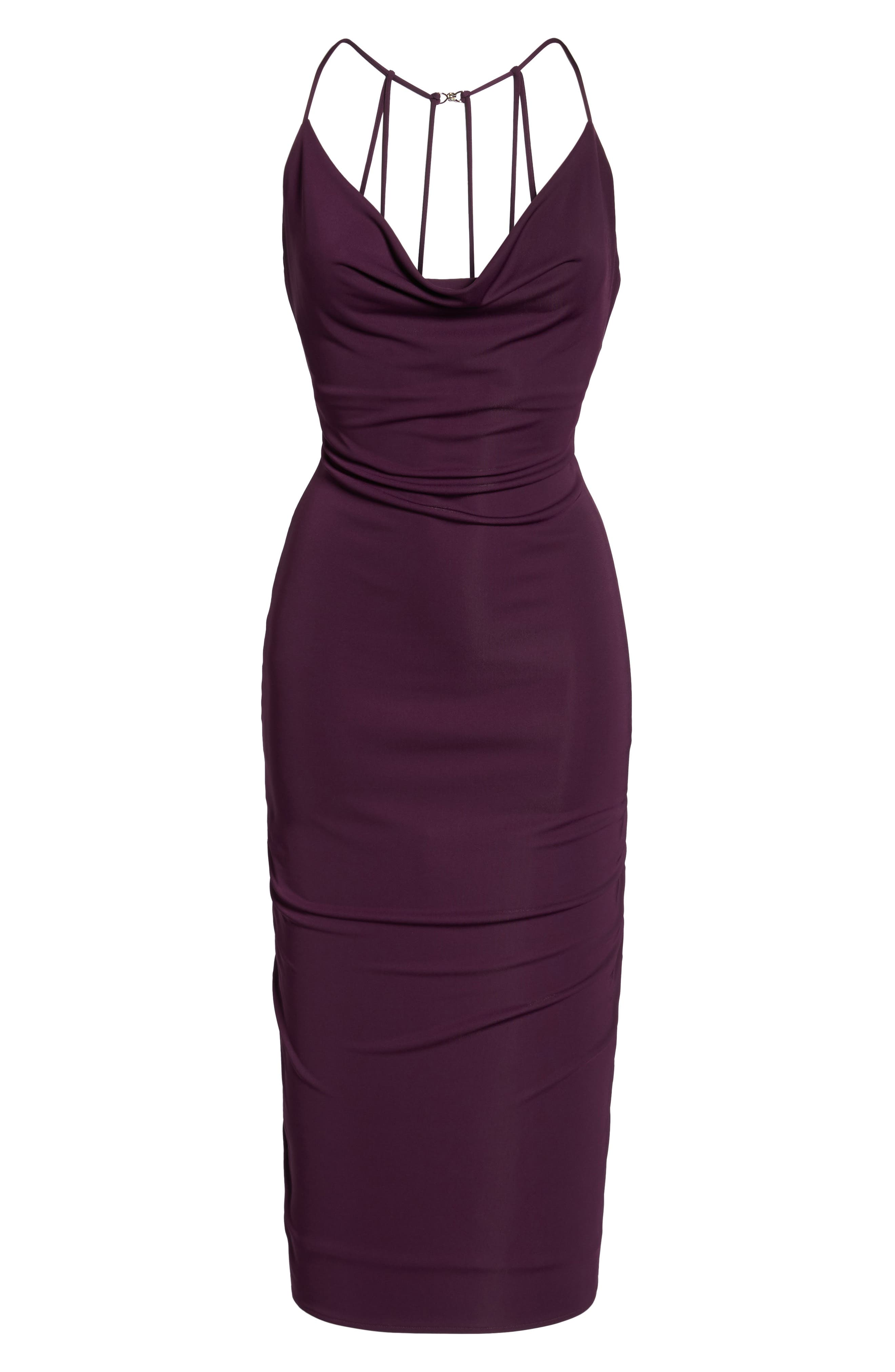 Cowl Neck Midi Dress,                             Alternate thumbnail 6, color,                             935