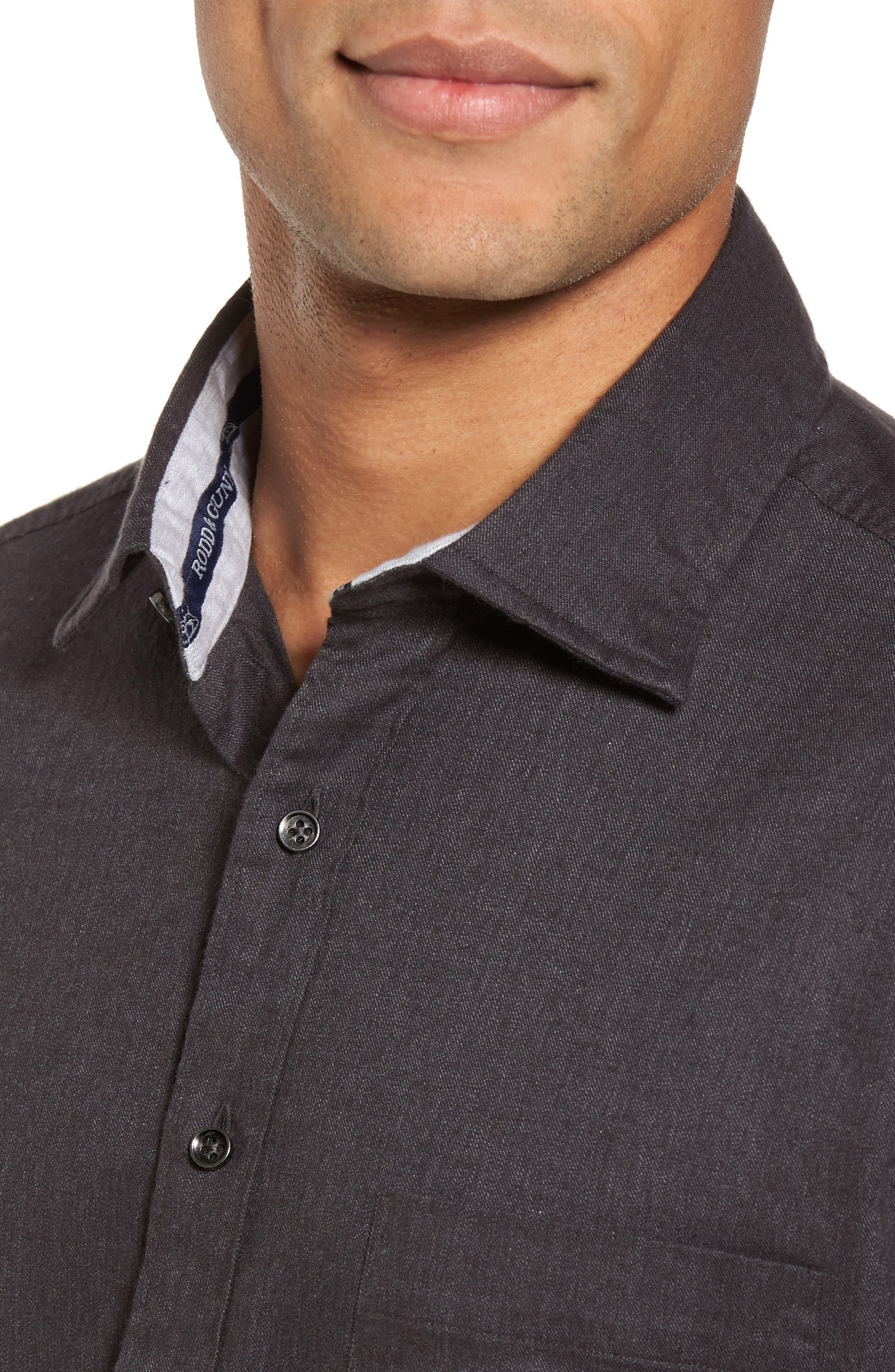 'Sinclair' Trim Fit Brushed Twill Sport Shirt,                             Alternate thumbnail 4, color,                             021