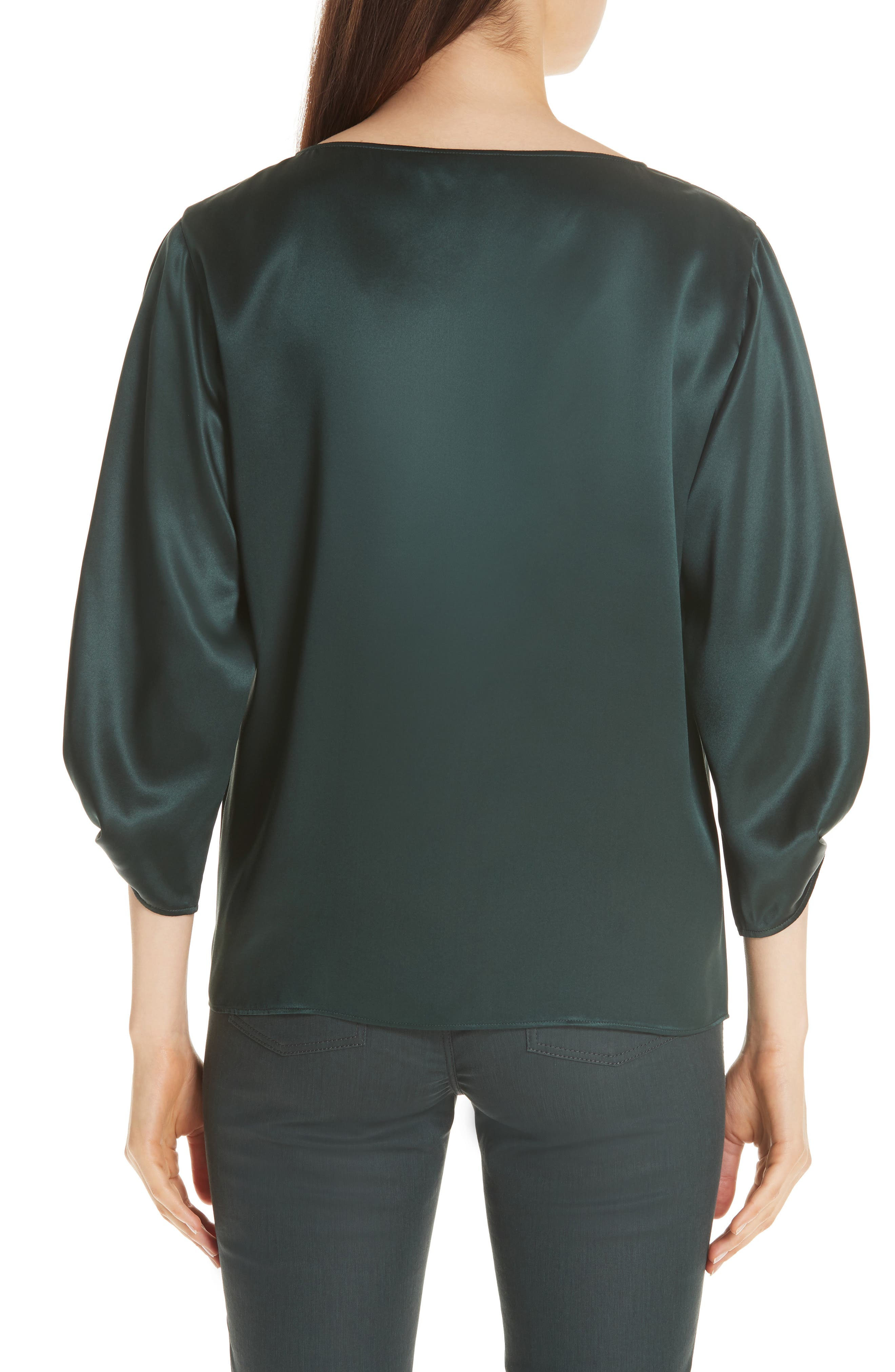 Wynona Silk Charmeuse Blouse,                             Alternate thumbnail 2, color,                             396