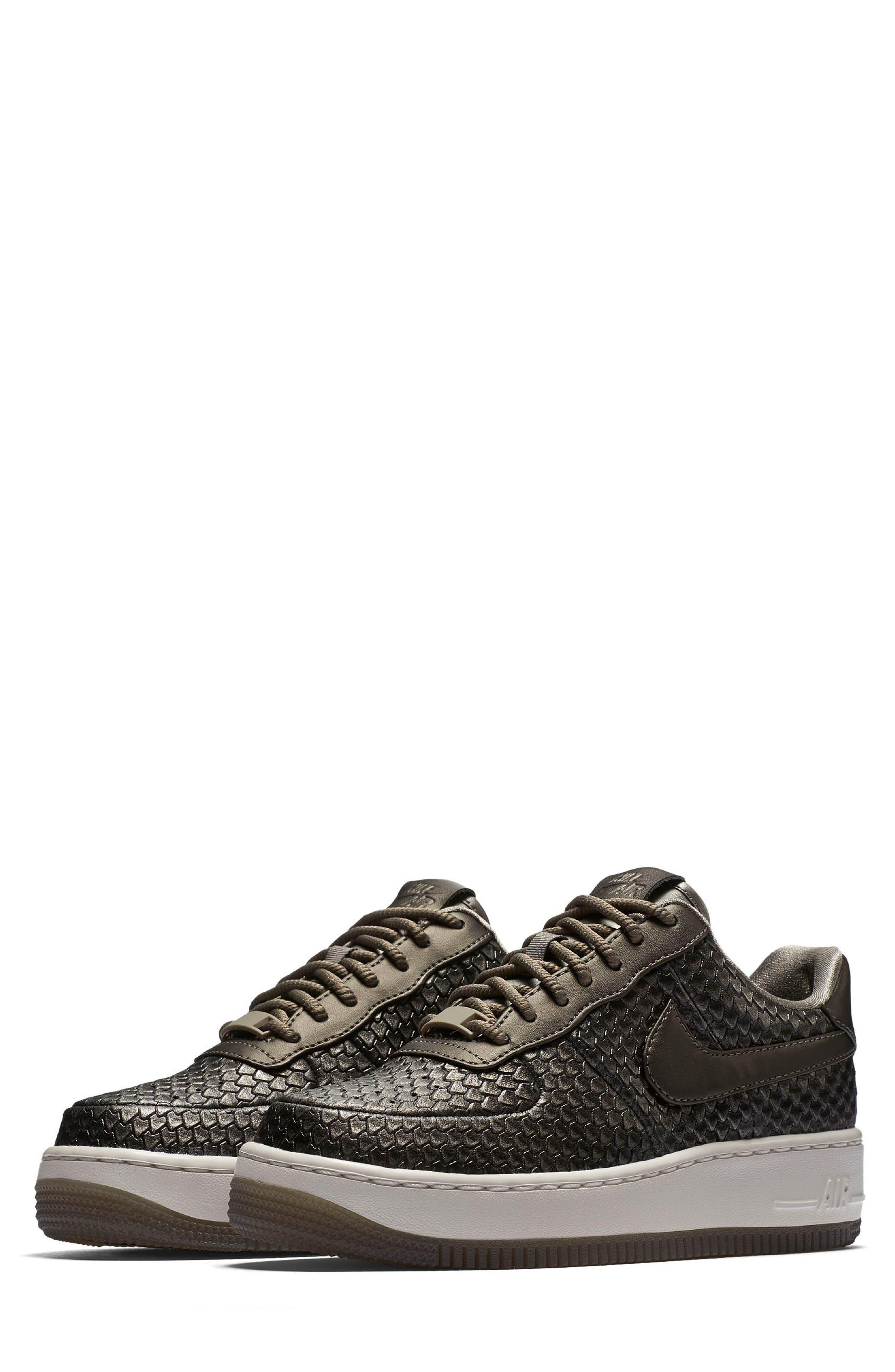 Air Force 1 Upstep Premium Platform Sneaker,                         Main,                         color, 022