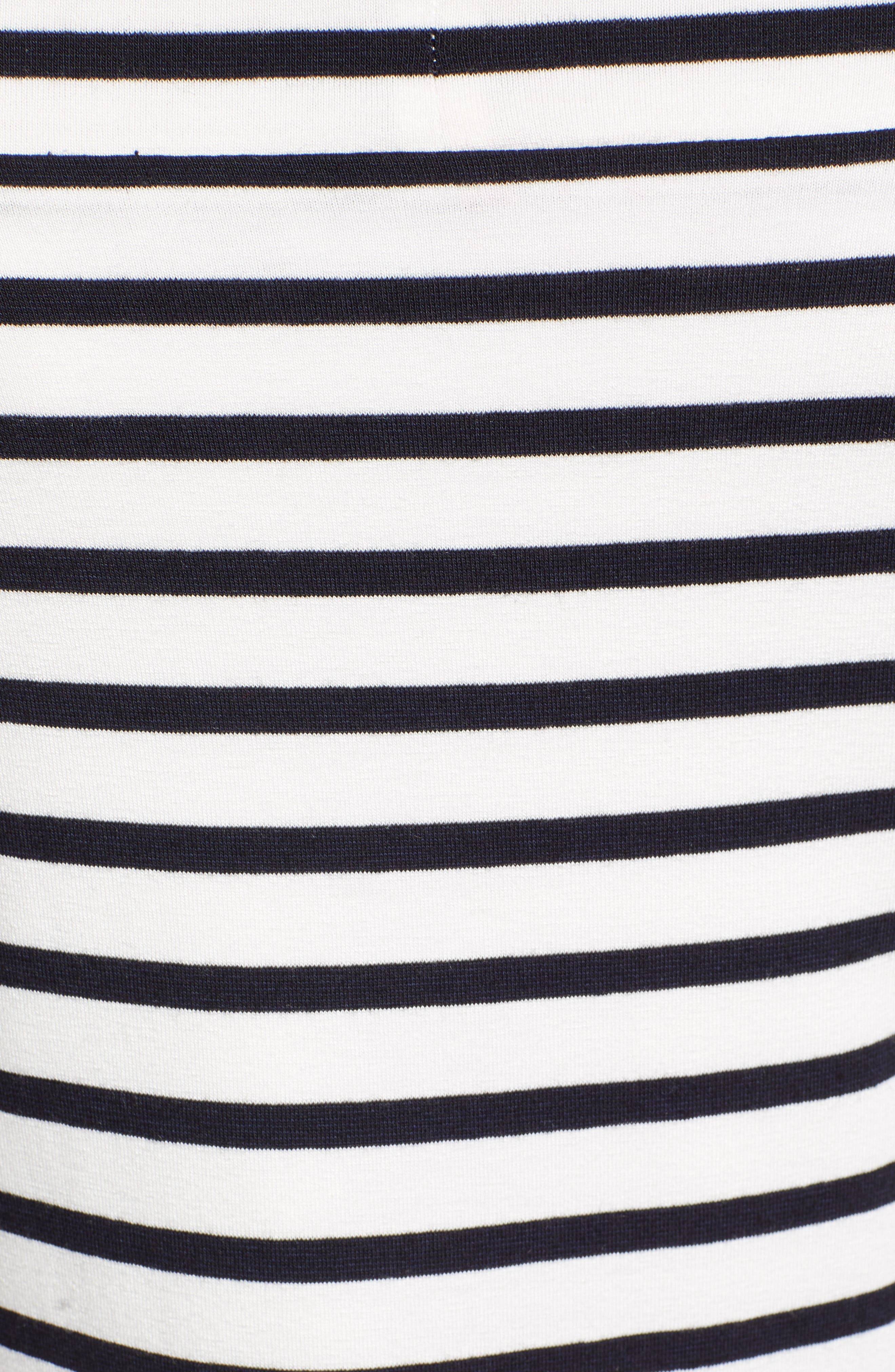 Bateau Venice Off-the-Shoulder Tee,                             Alternate thumbnail 5, color,                             CHALK/ MIDNIGHT
