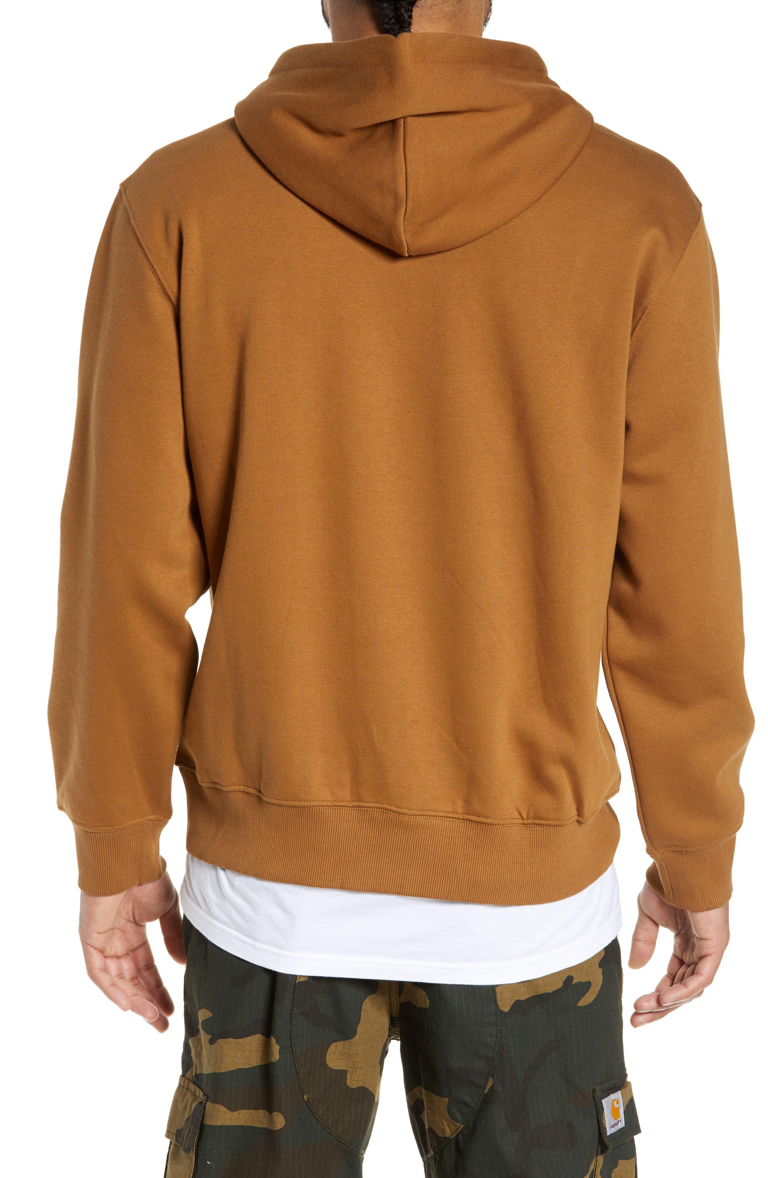 Logo Embroidered Hooded Sweatshirt,                             Alternate thumbnail 2, color,                             HAMILTON BROWN / BLACK