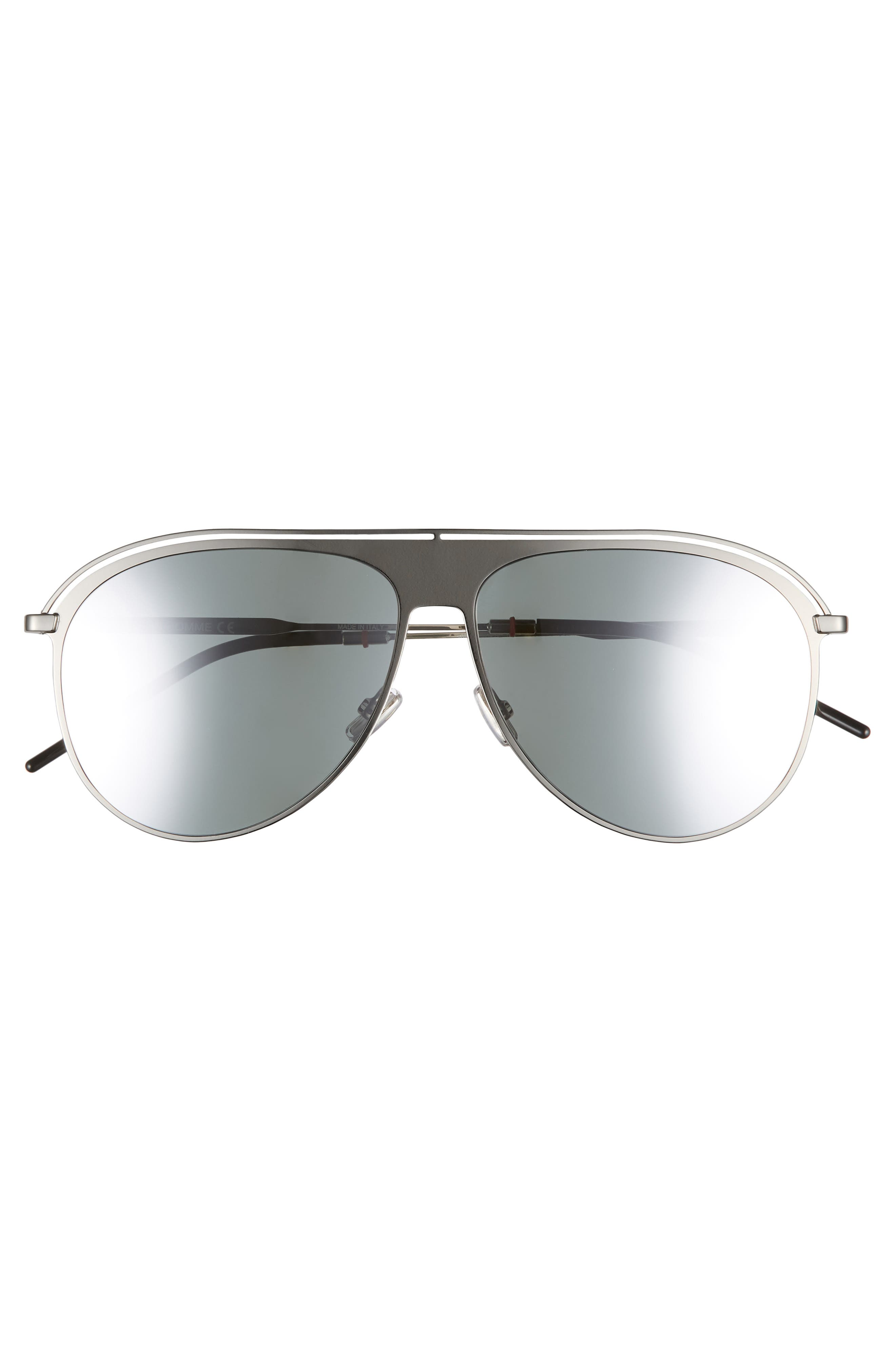 DIOR,                             59mm Polarized Aviator Sunglasses,                             Alternate thumbnail 2, color,                             PALLADIUM/ POLAR