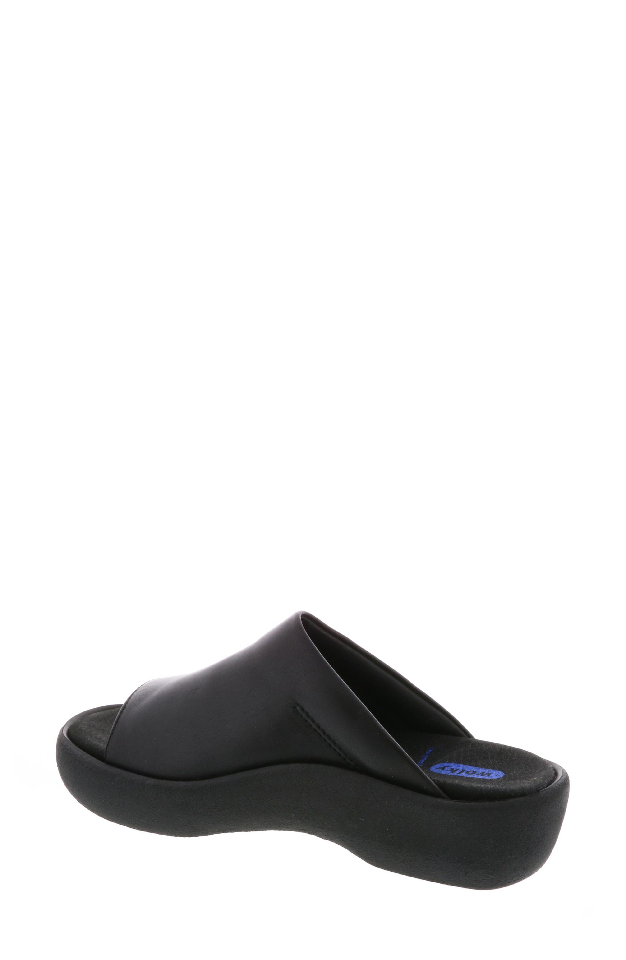 Nassau Slide Sandal,                             Alternate thumbnail 2, color,                             BLACK SMOOTH LEATHER
