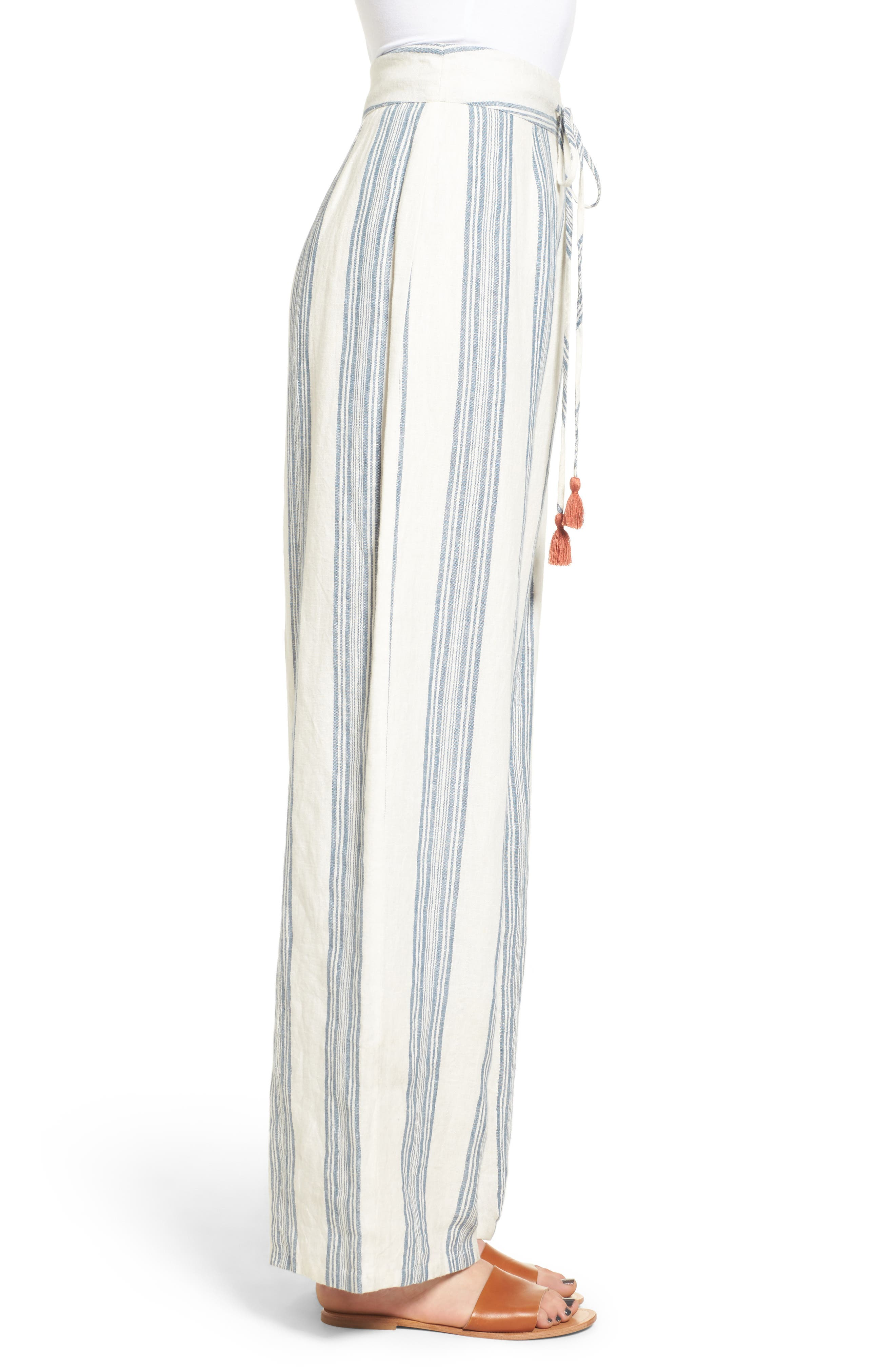 TULAROSA,                             Marley Linen Pants,                             Alternate thumbnail 3, color,                             472