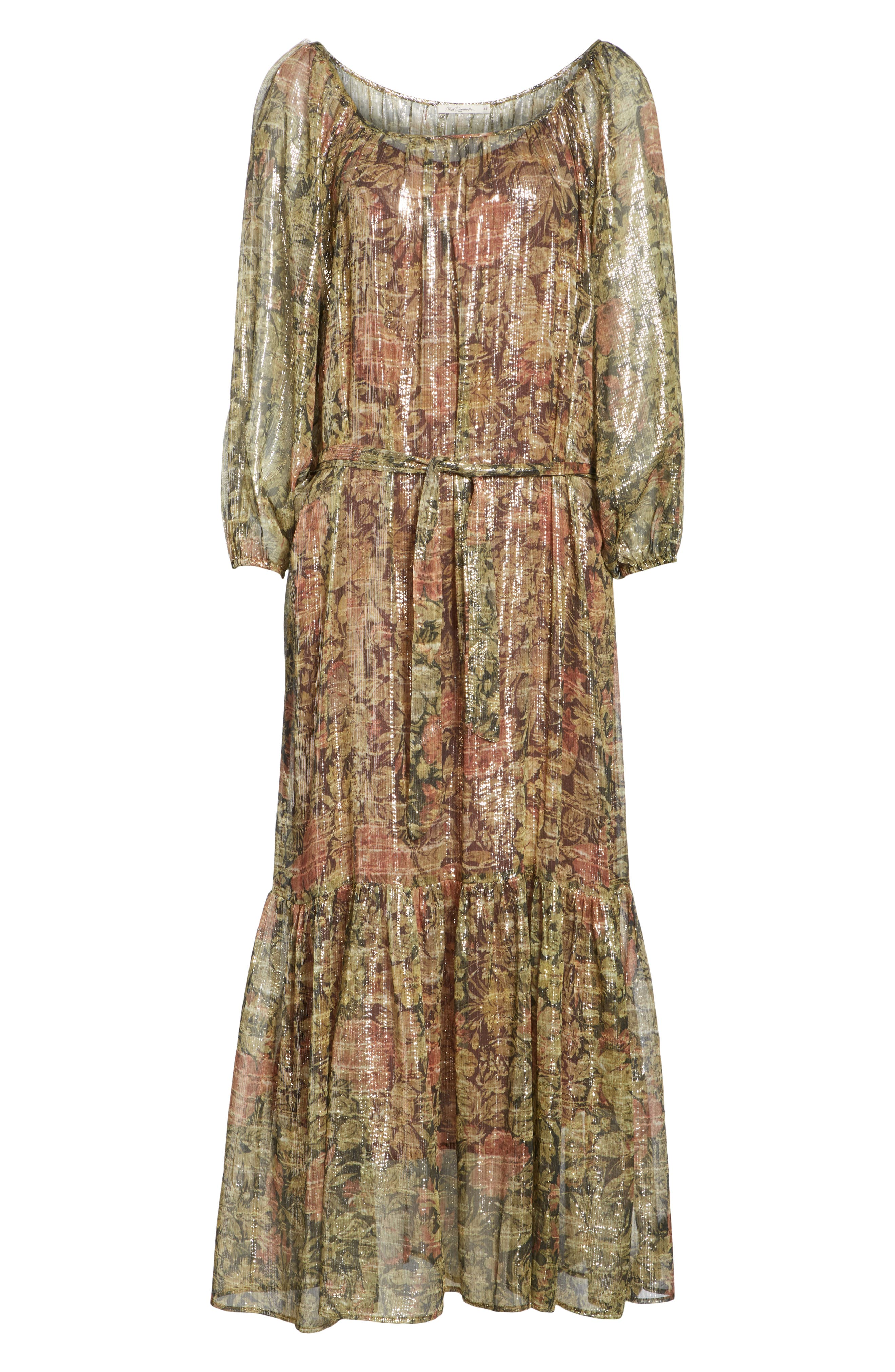 Print Dress,                             Alternate thumbnail 6, color,                             391