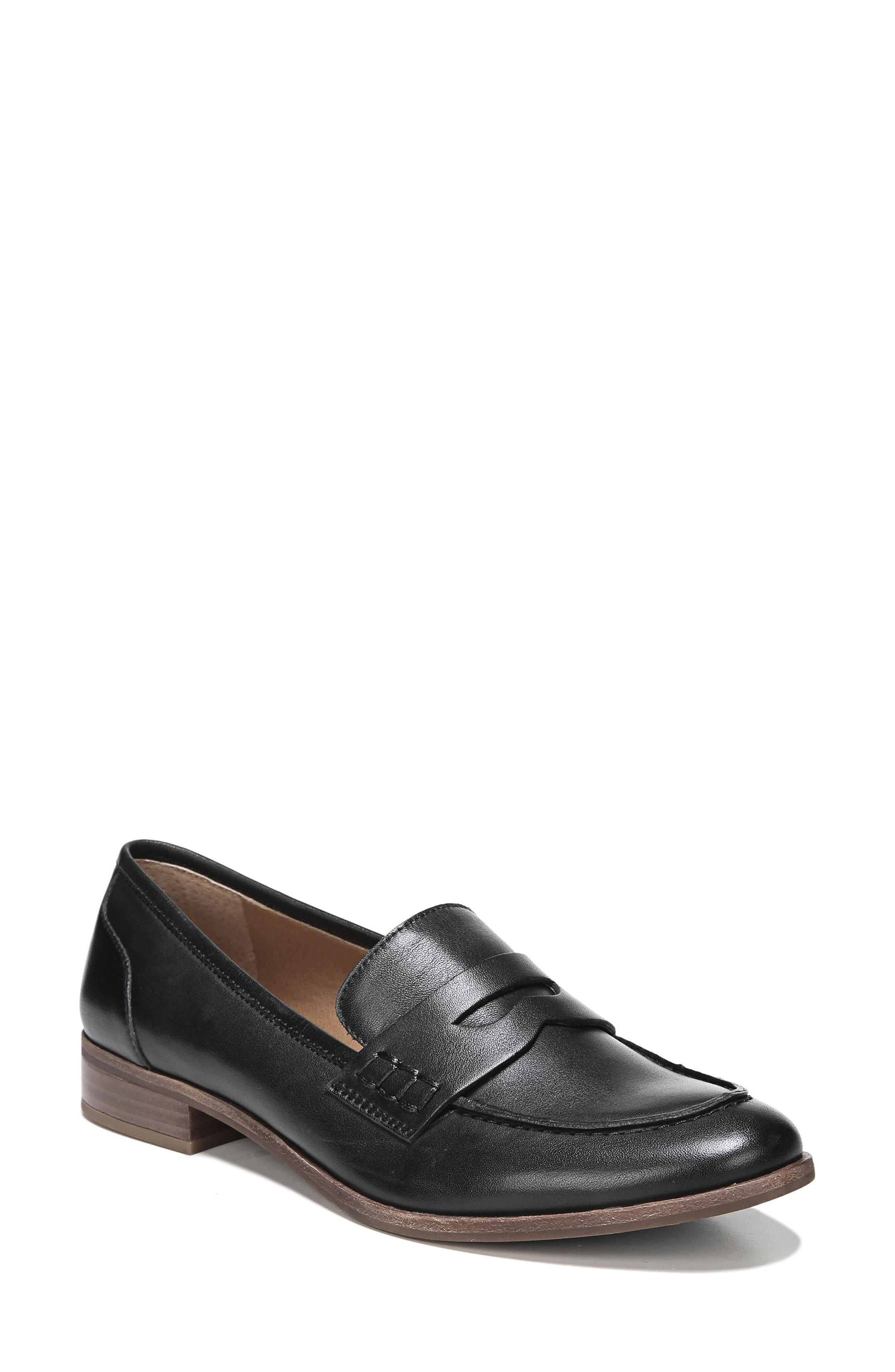 'Jolette' Penny Loafer,                             Main thumbnail 1, color,                             BLACK LEATHER