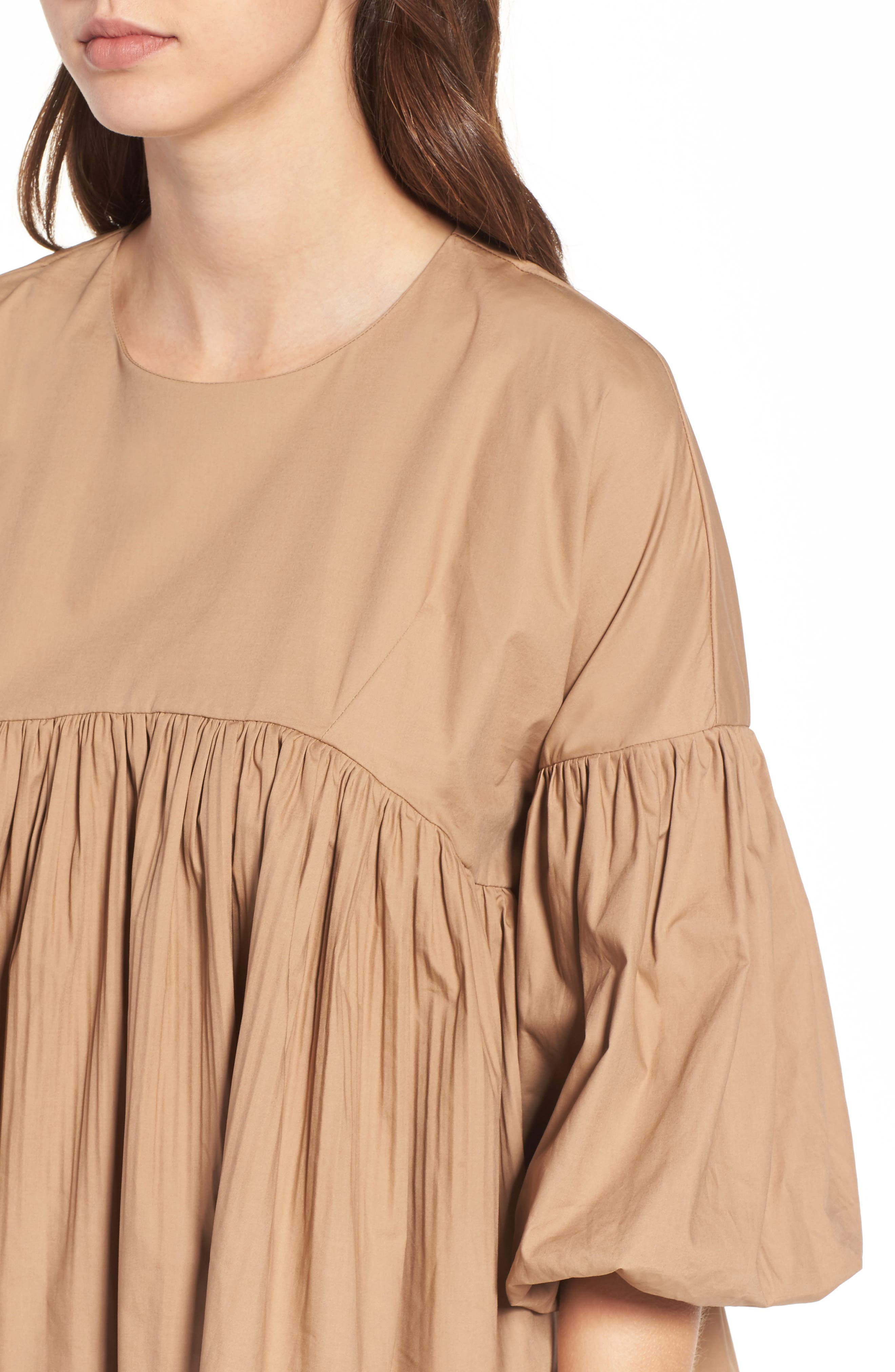 Pleated Swing Top,                             Alternate thumbnail 4, color,                             250