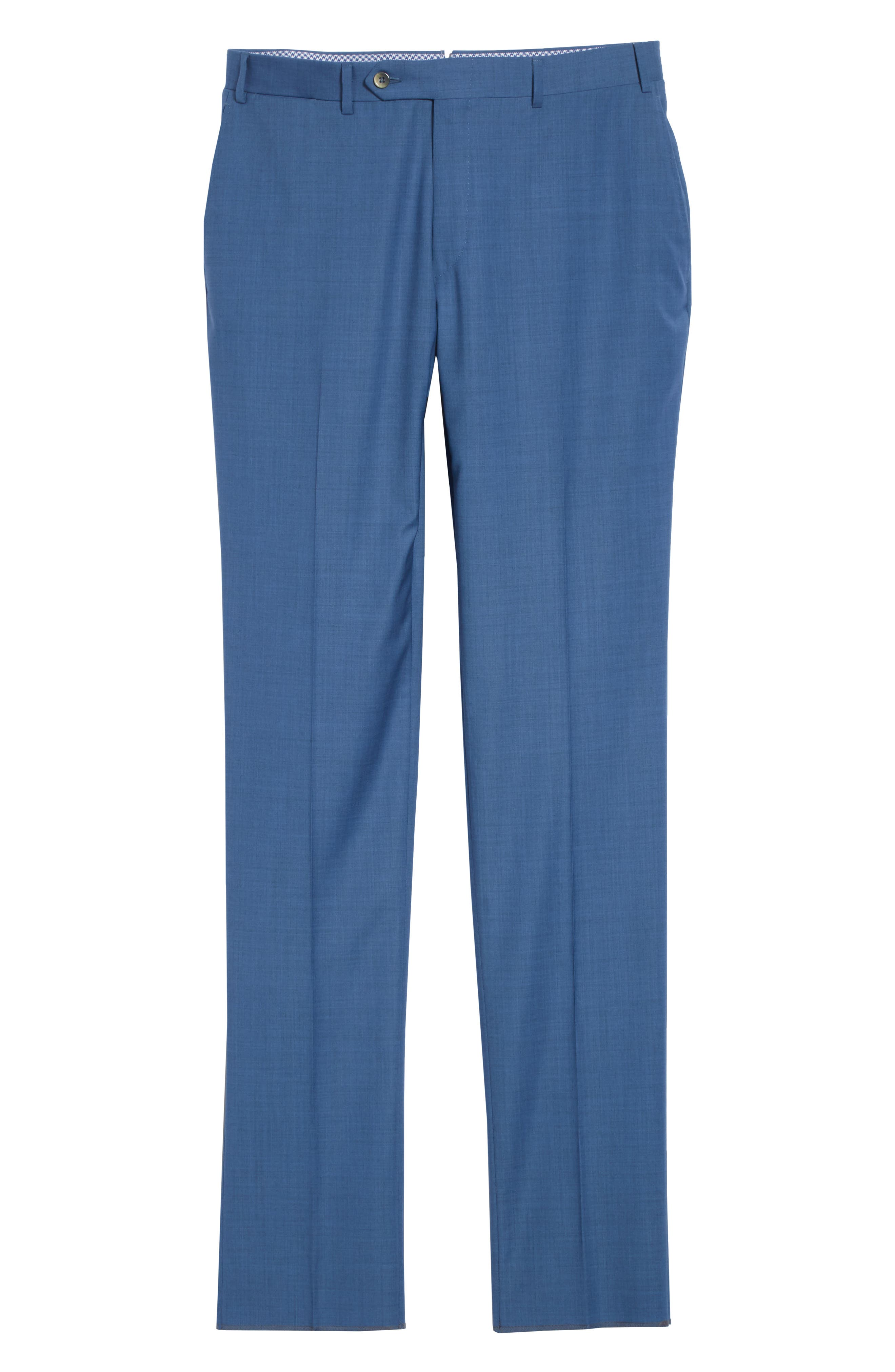 Kei Flat Front Solid Wool Trousers,                             Alternate thumbnail 18, color,