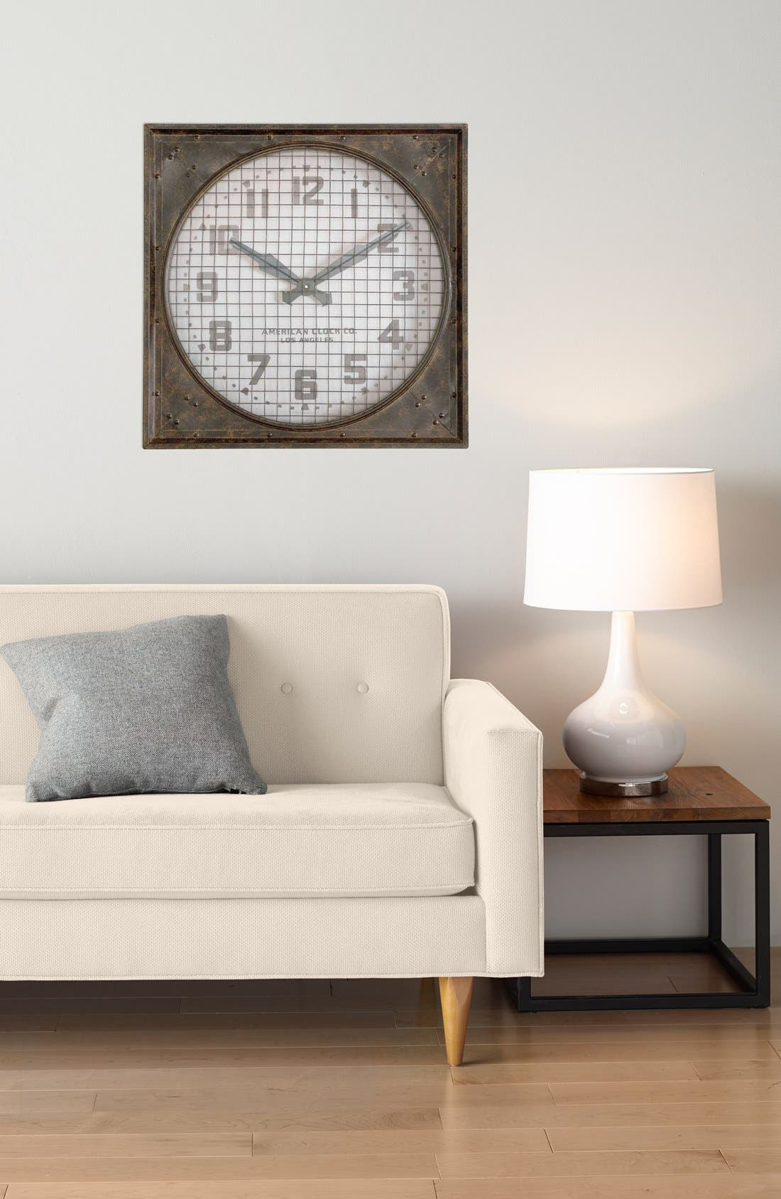 'Warehouse' Wall Clock with Grill,                             Alternate thumbnail 4, color,                             100