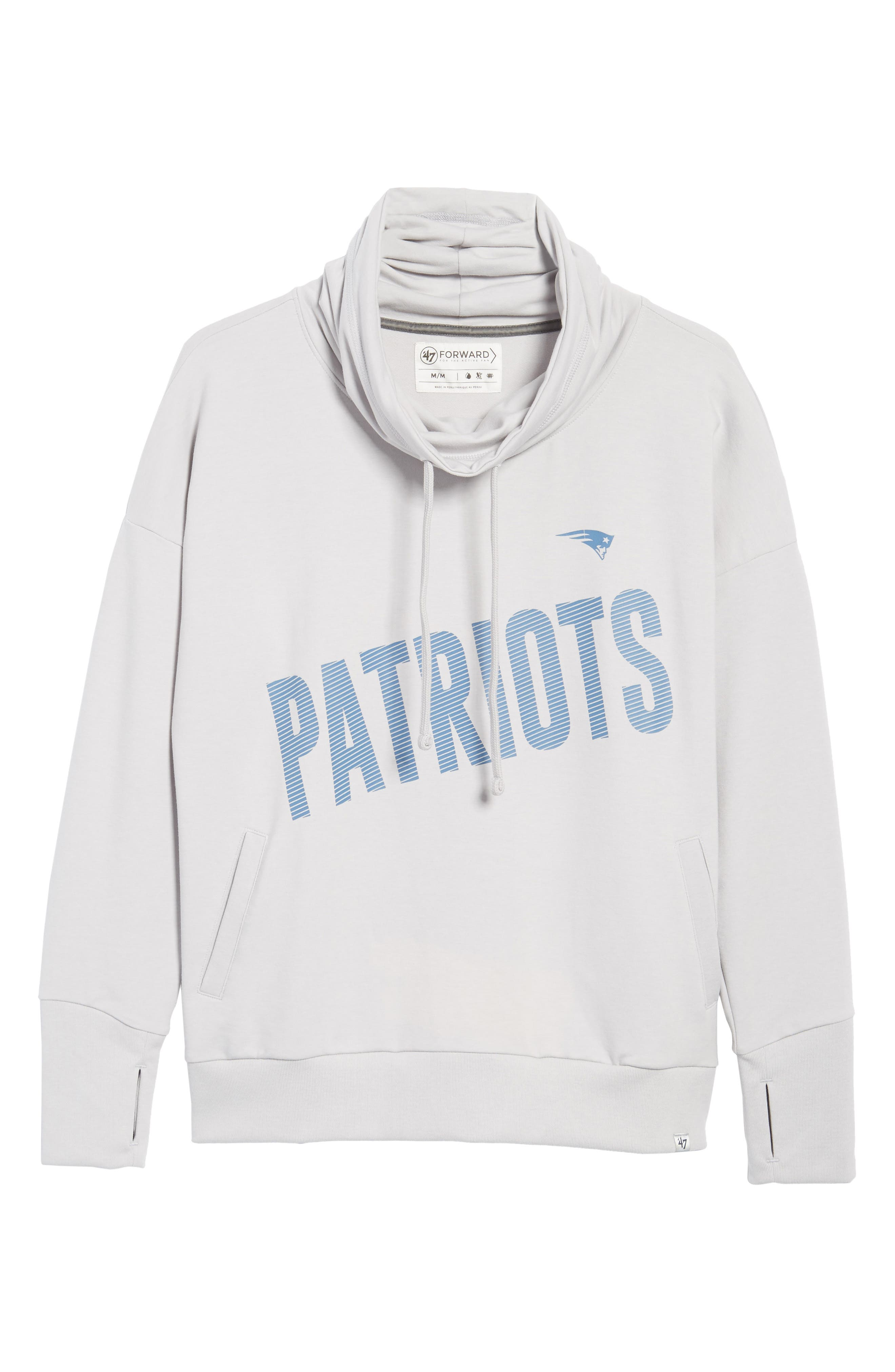 New England Patriots Funnel Neck Pullover,                             Alternate thumbnail 6, color,                             020