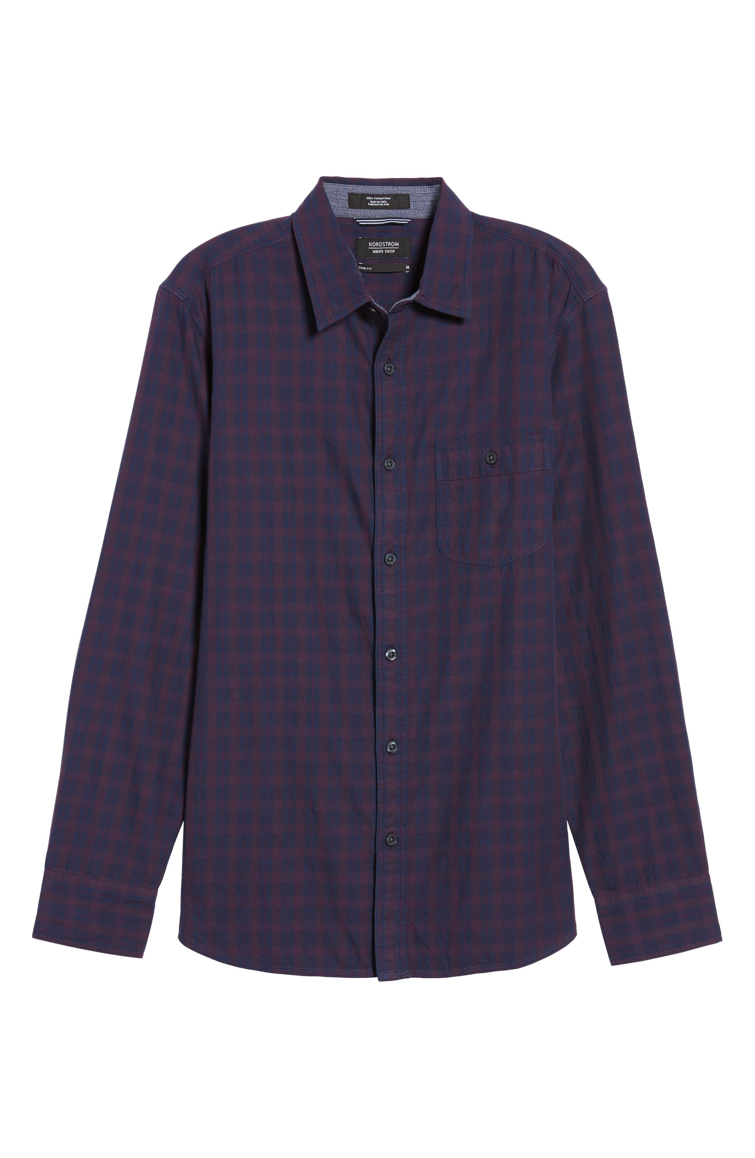 Slim Washed Fit Sport Shirt,                             Alternate thumbnail 6, color,
