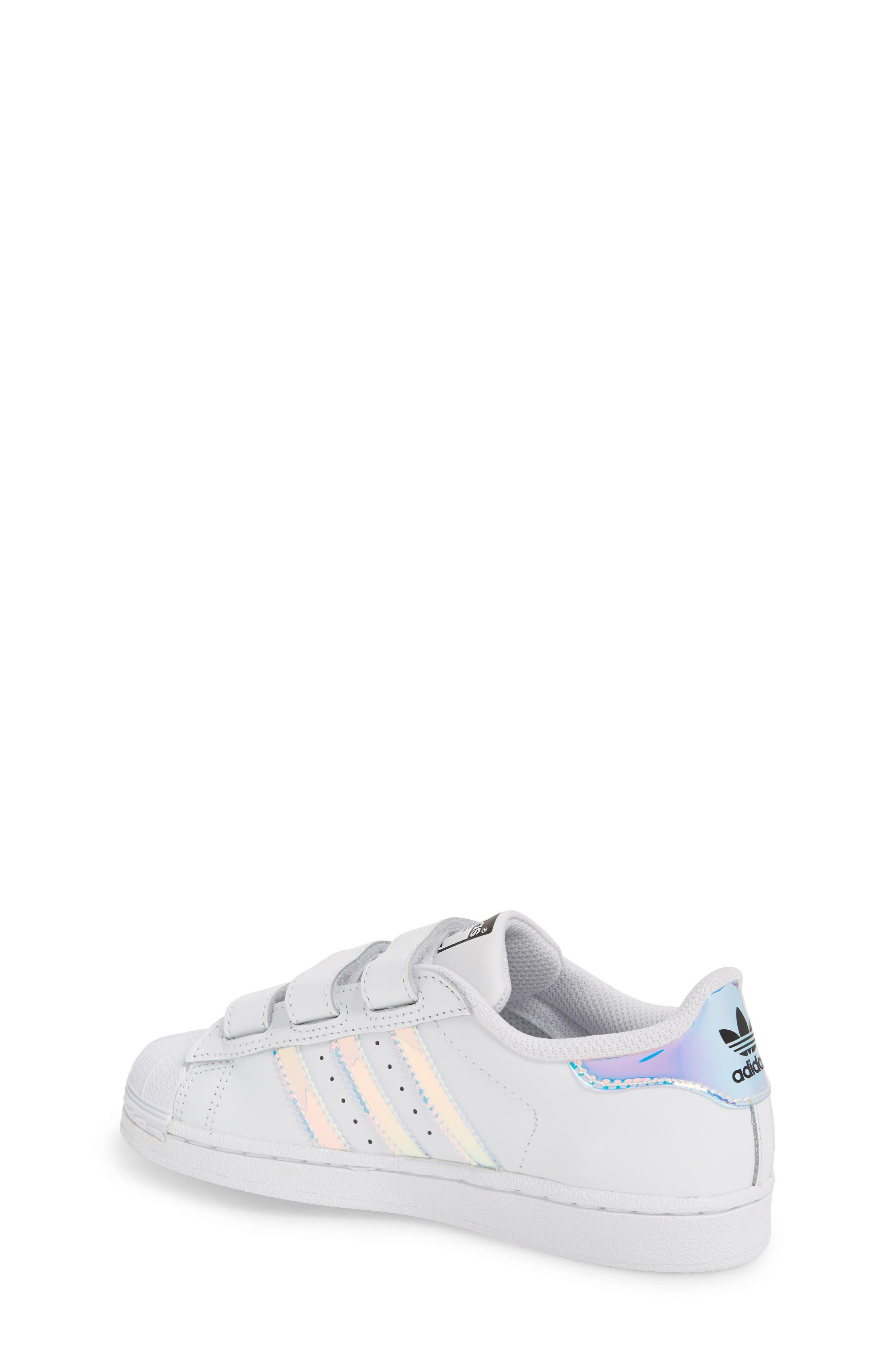 Superstar - Iridescent Sneaker,                             Alternate thumbnail 3, color,                             SILVER METALLIC/ WHITE
