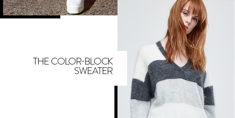 The Vince color-block sweater.