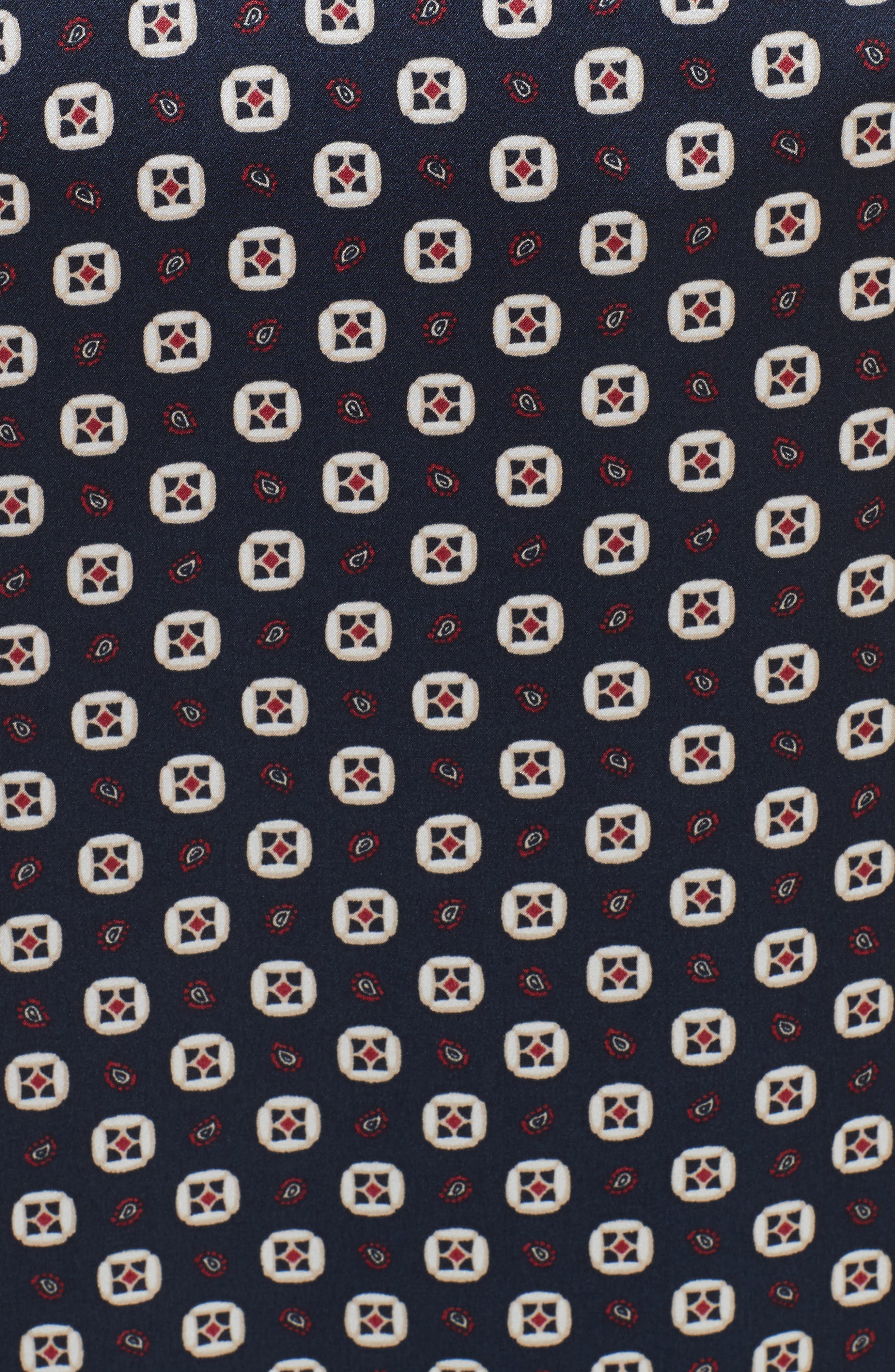 Print Silk Midi Skirt,                             Alternate thumbnail 5, color,                             401