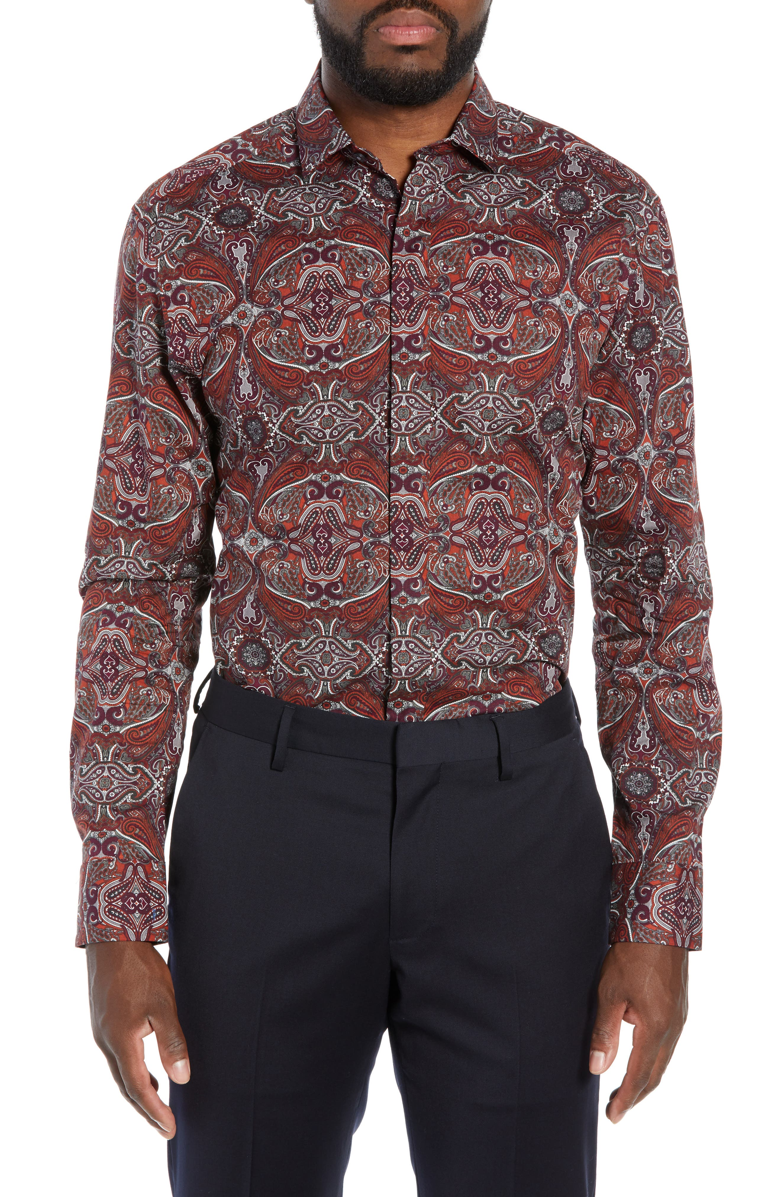 Regular Fit Dot Sport Shirt,                             Main thumbnail 1, color,                             600