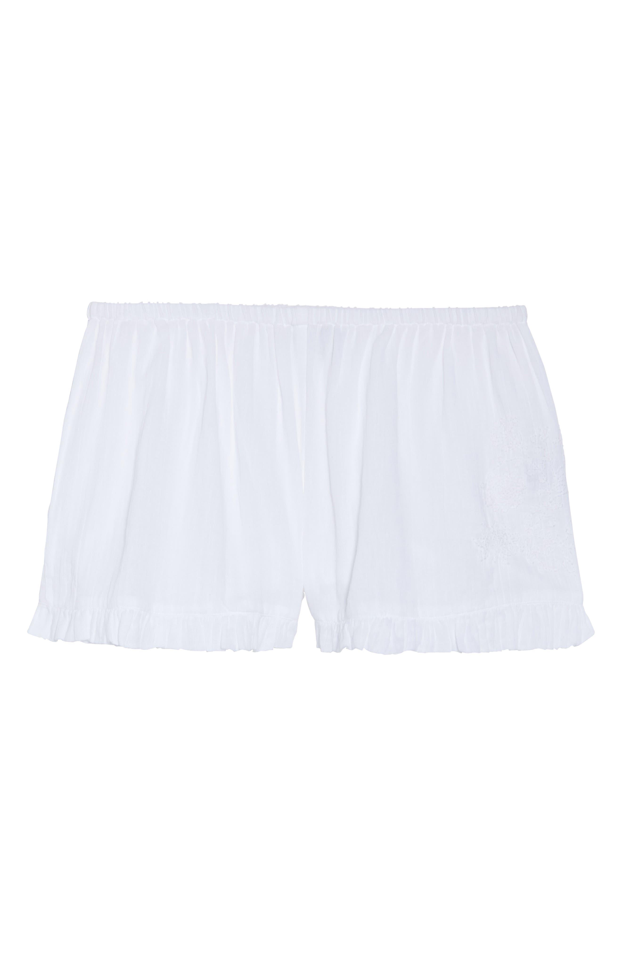 Cambria Ruffle Sleep Shorts,                             Alternate thumbnail 6, color,                             105