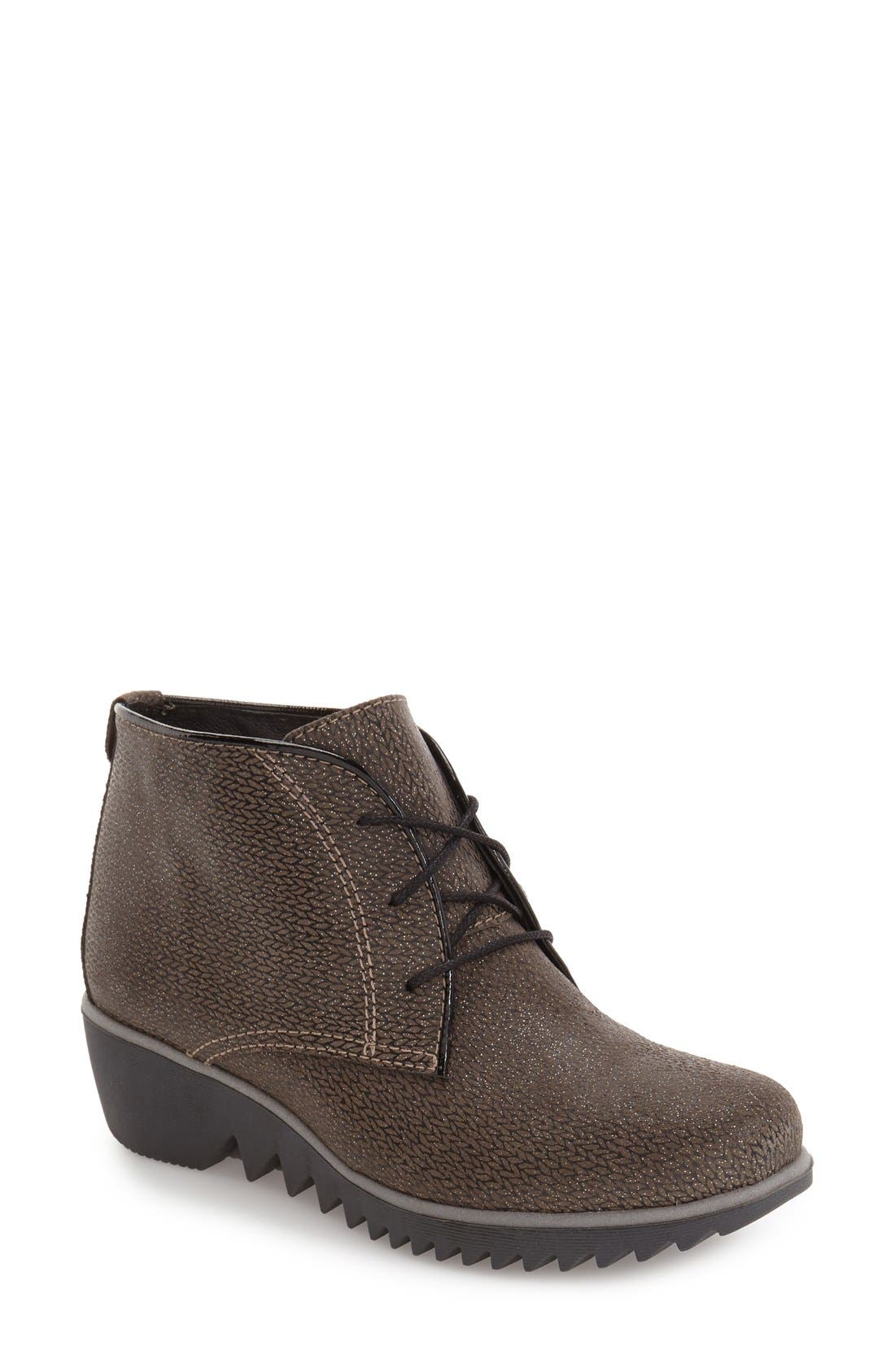 'Dusty' Hidden Wedge Bootie,                             Main thumbnail 1, color,                             TAUPE MALIBU SUEDE