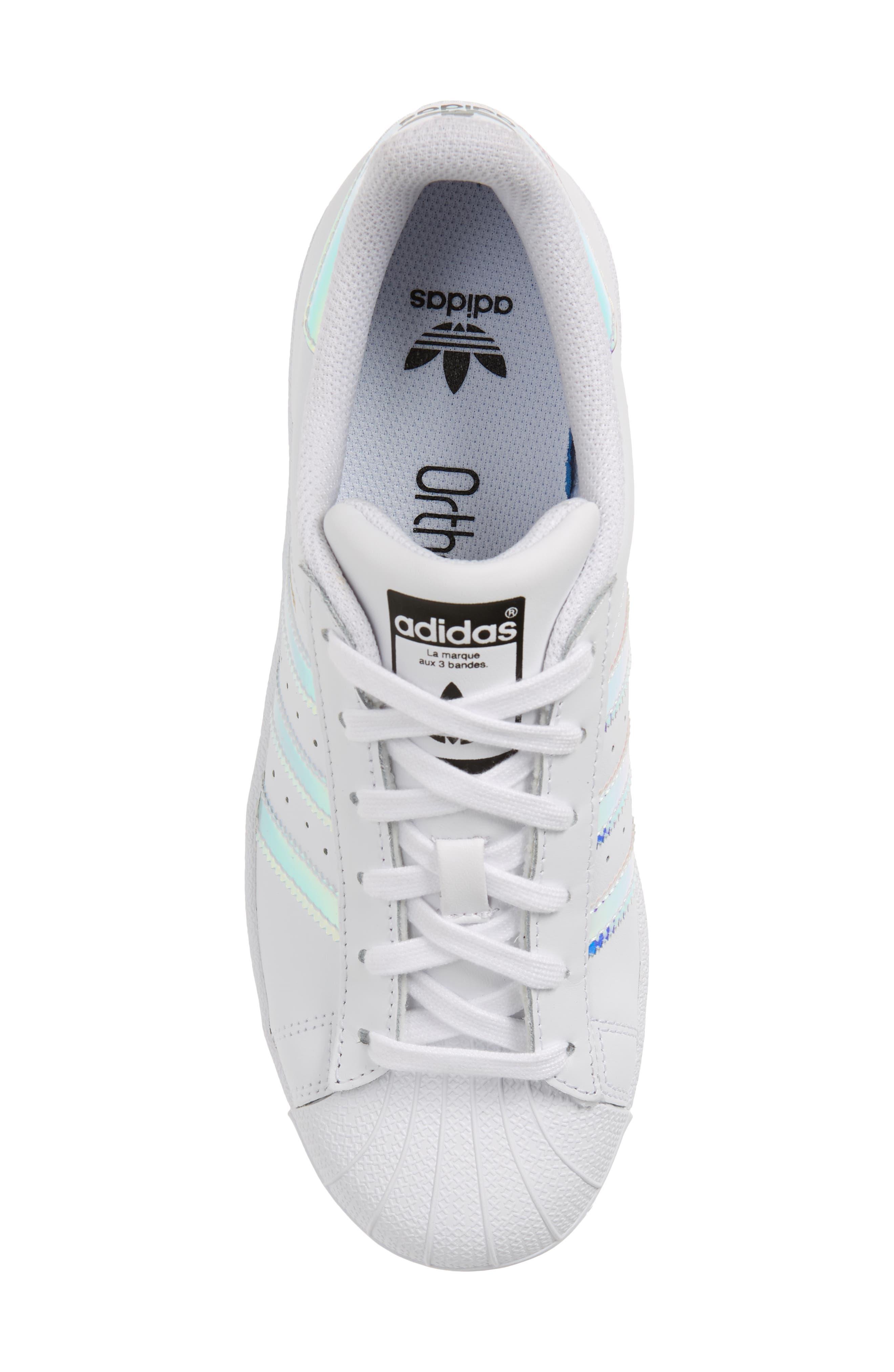 Superstar - Iridescent Sneaker,                             Alternate thumbnail 6, color,                             SILVER METALLIC/ WHITE