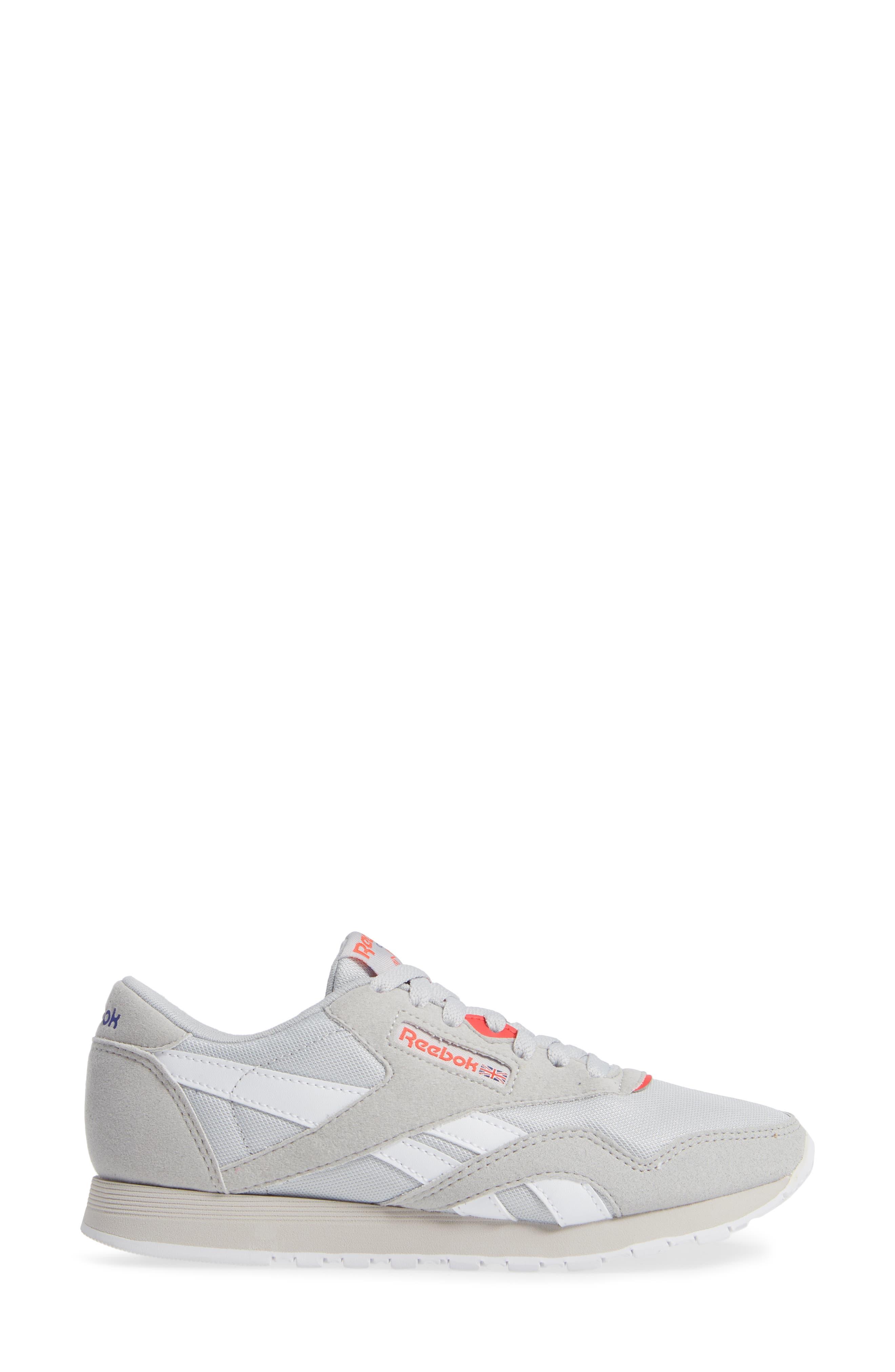 Classic Nylon TXT Sneaker,                             Alternate thumbnail 3, color,                             GREY/ NEON CHERRY/ PURPLE