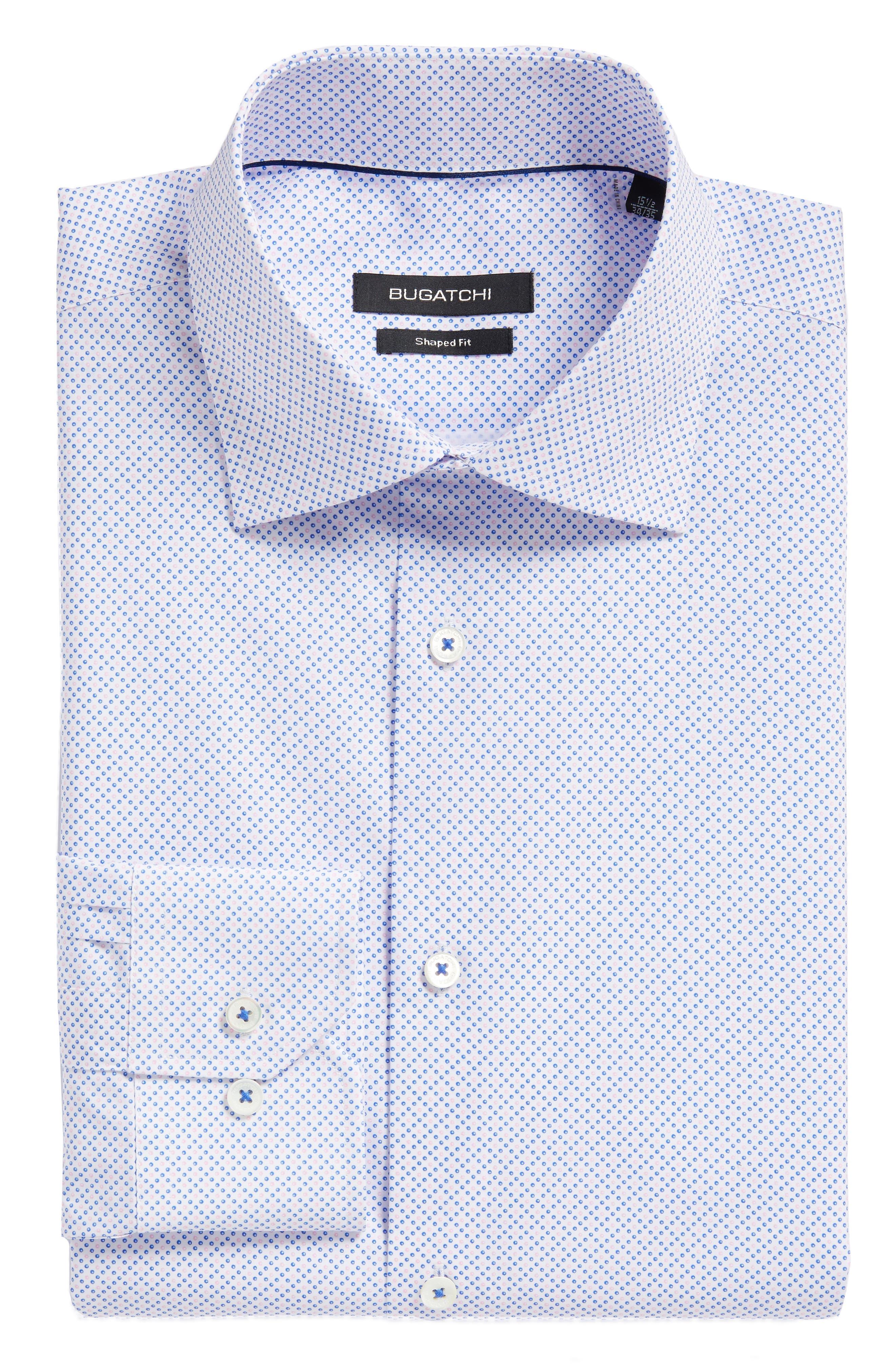 Trim Fit Dot Dress Shirt,                         Main,                         color, 682
