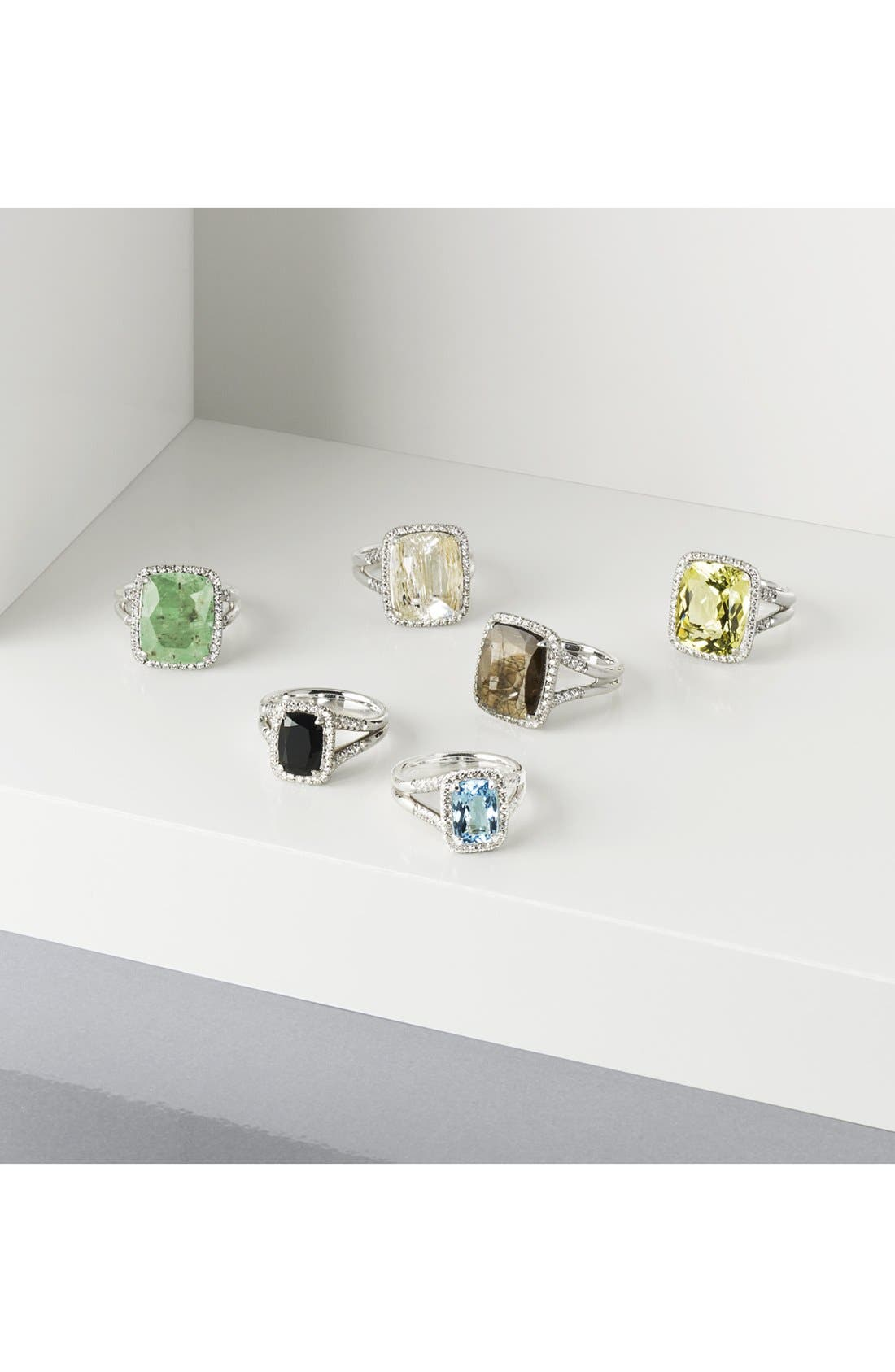 Classic Chain Gemstone Ring,                             Alternate thumbnail 3, color,                             041