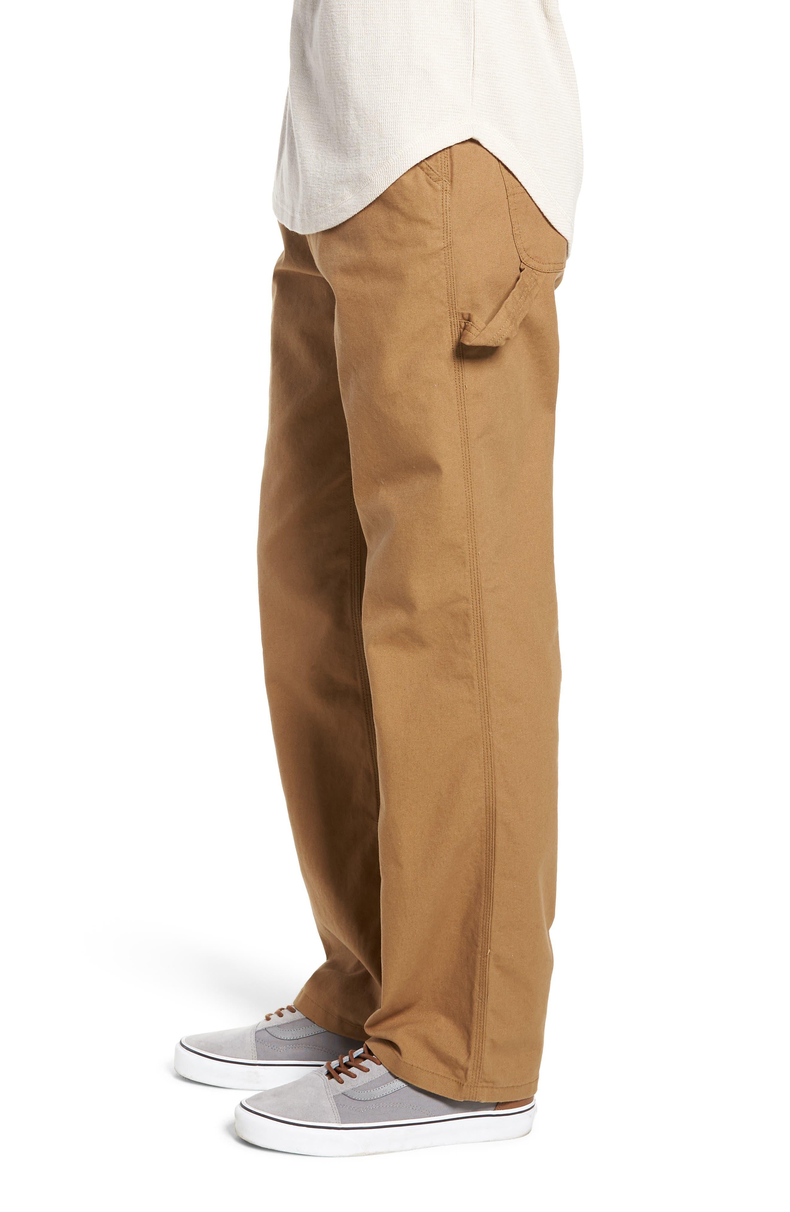 Hardware Straight Fit Carpenter Pants,                             Alternate thumbnail 3, color,                             DIRT